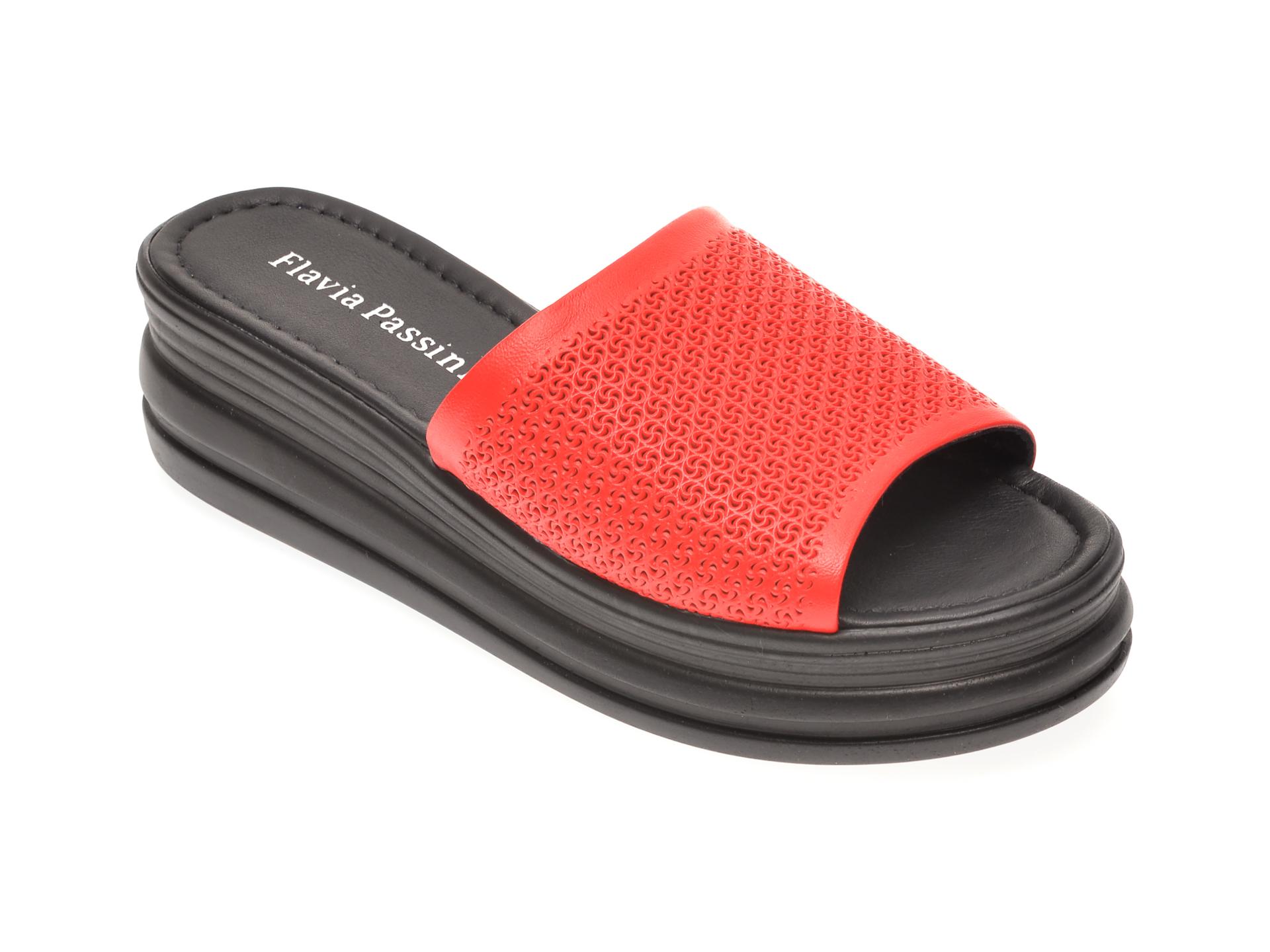 Papuci FLAVIA PASSINI rosii, 1182590, din piele naturala