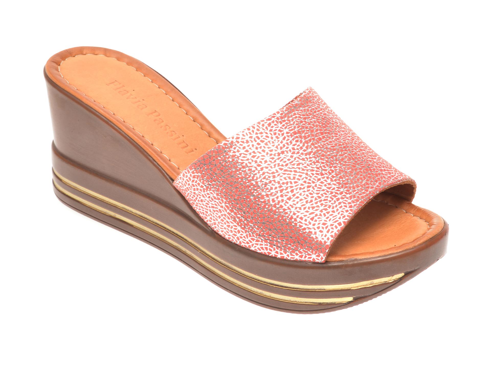 Papuci FLAVIA PASSINI roz, 1181513, din piele naturala