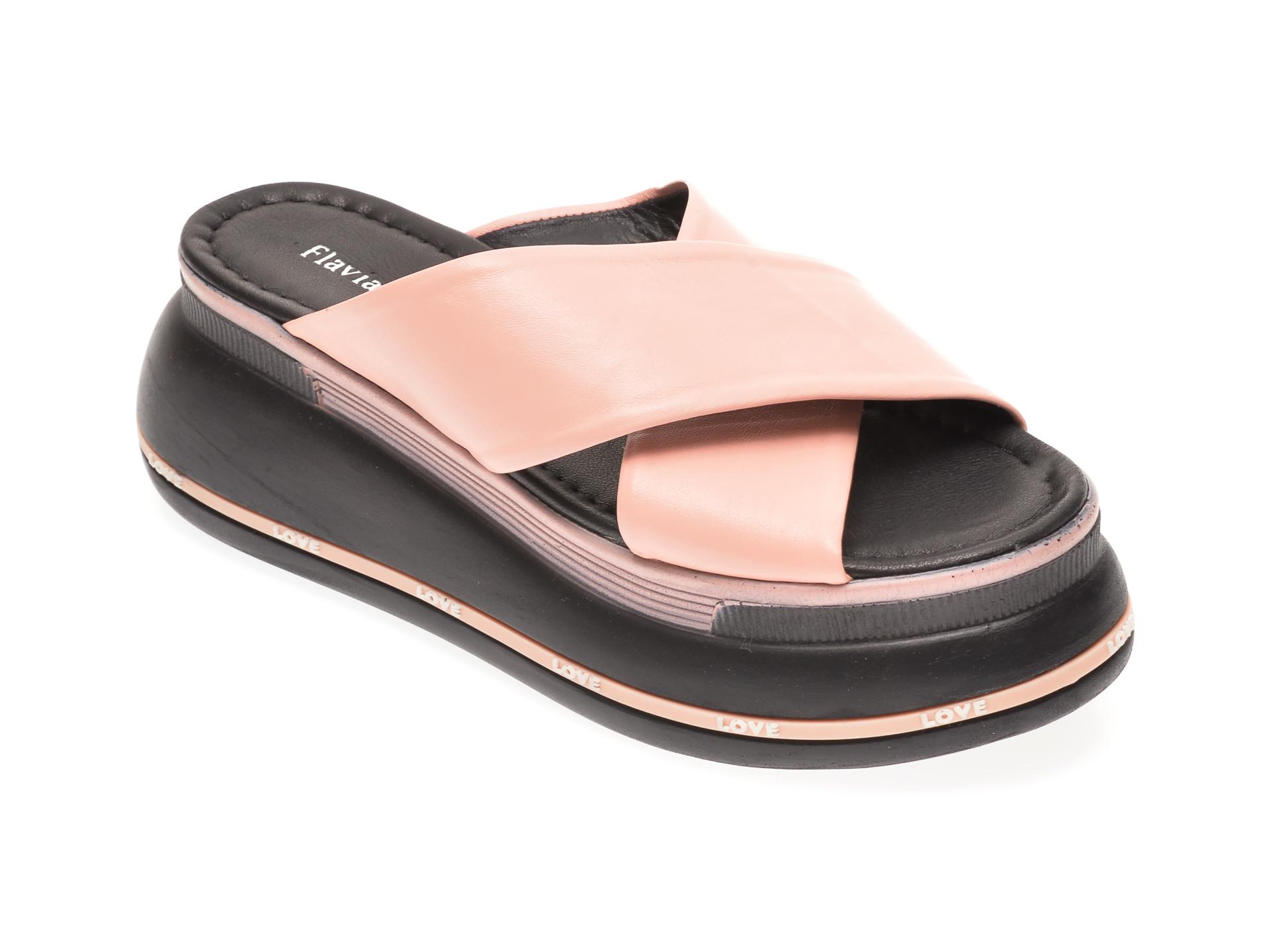 Papuci FLAVIA PASSINI roz, 1182544, din piele naturala