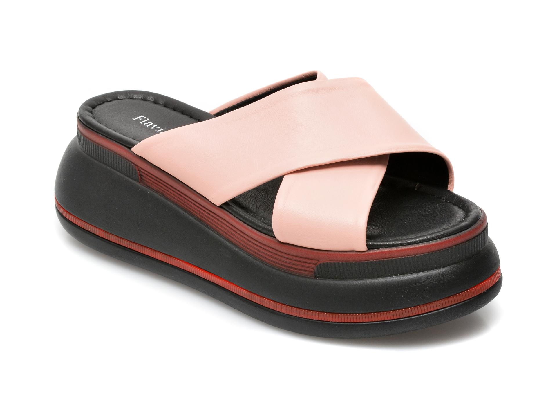Papuci FLAVIA PASSINI roz, 2735, din piele naturala imagine otter.ro 2021