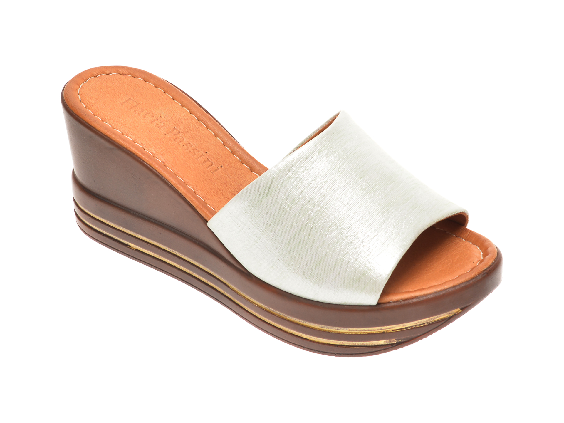 Papuci FLAVIA PASSINI verzi, 1181513, din piele naturala imagine
