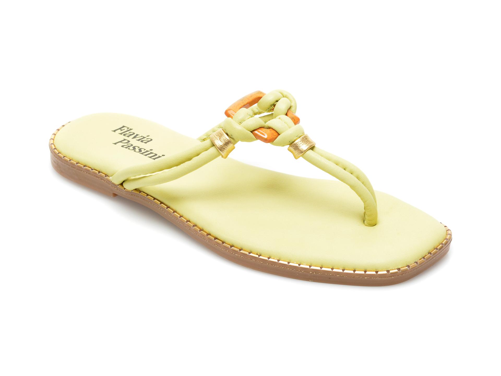 Papuci FLAVIA PASSINI verzi, 3016, din piele naturala imagine otter.ro 2021