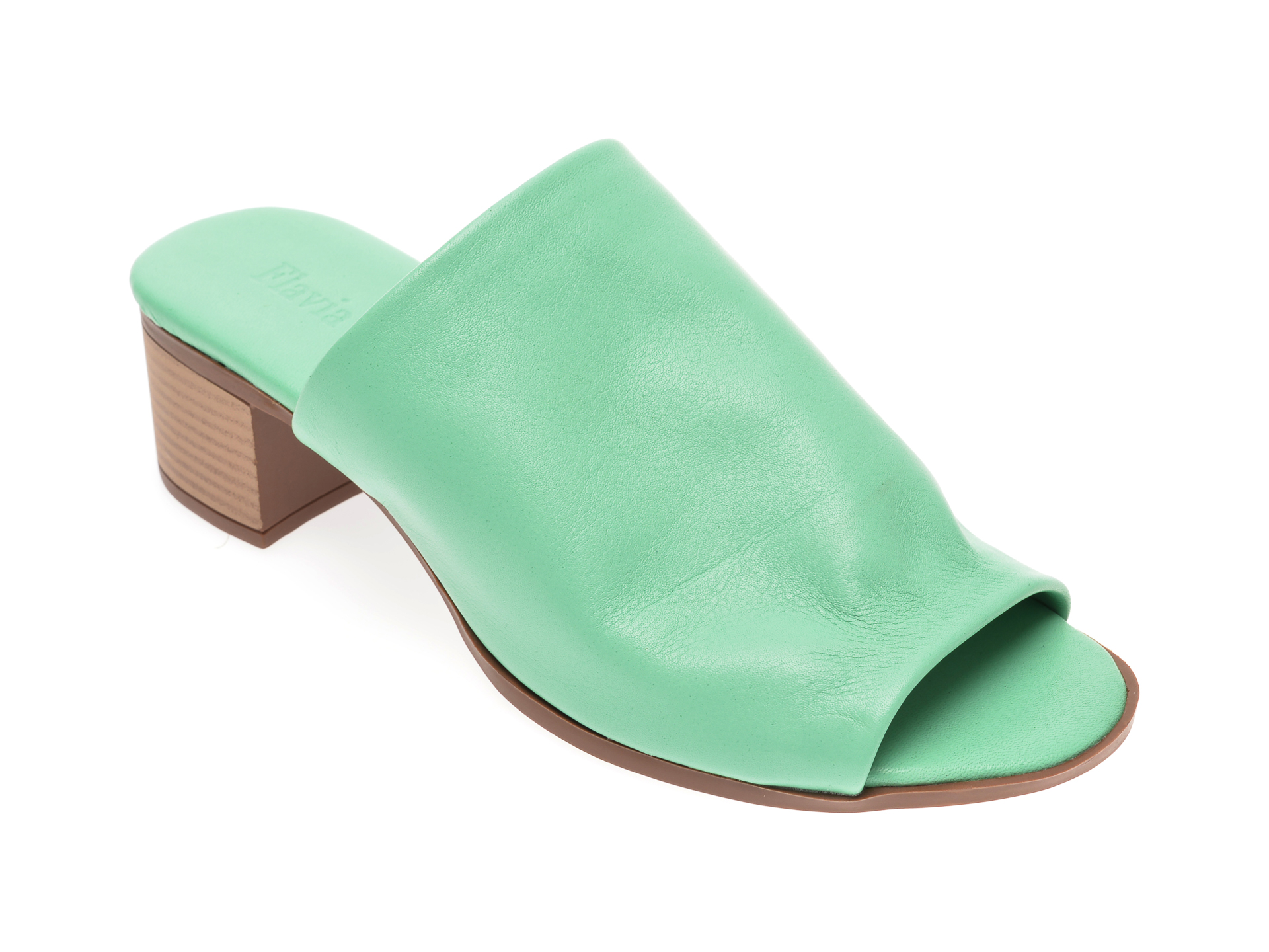 Papuci FLAVIA PASSINI verzi, 426700, din piele naturala