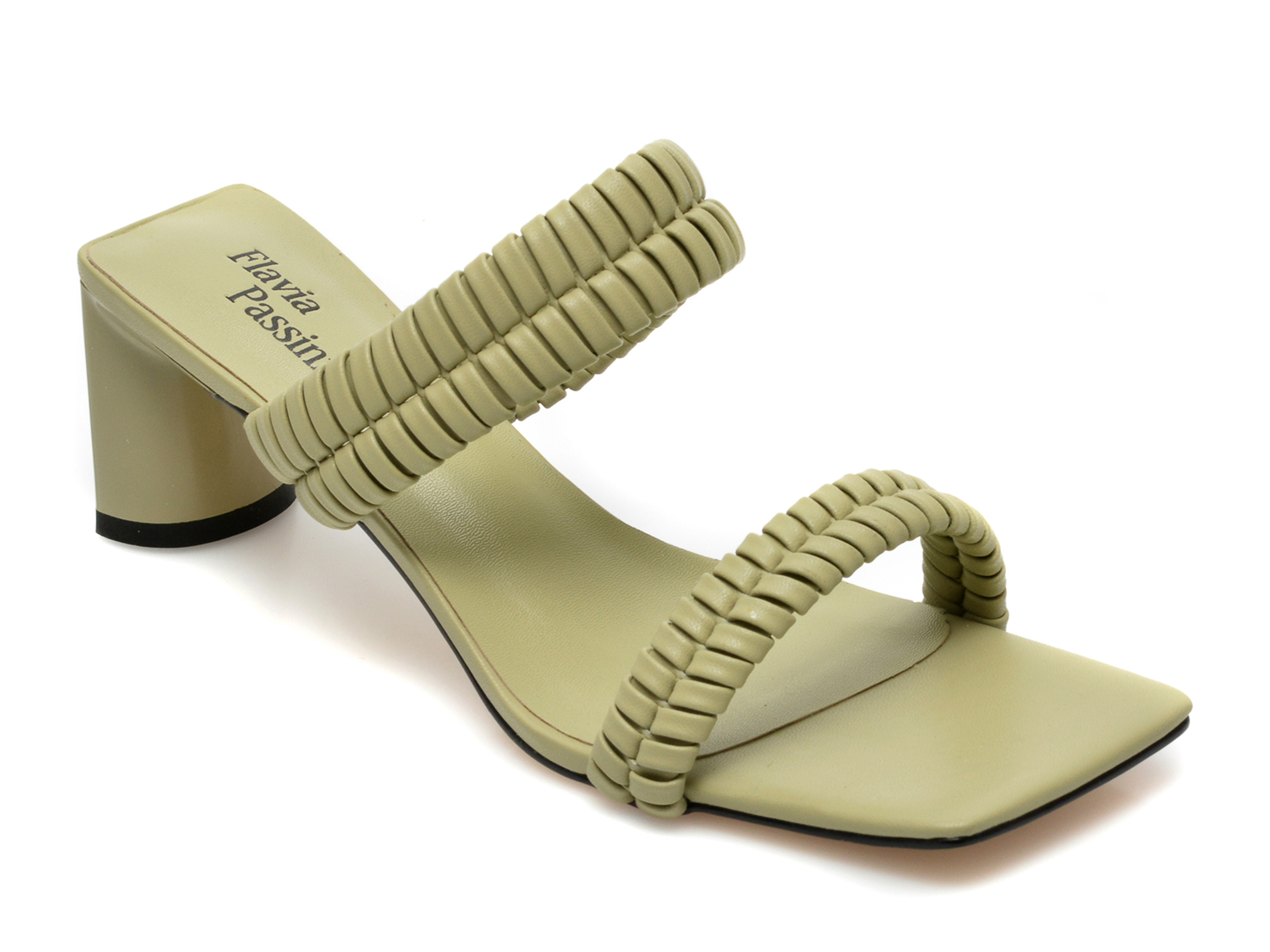 Papuci FLAVIA PASSINI verzi, LD30RT3, din piele ecologica imagine otter.ro 2021