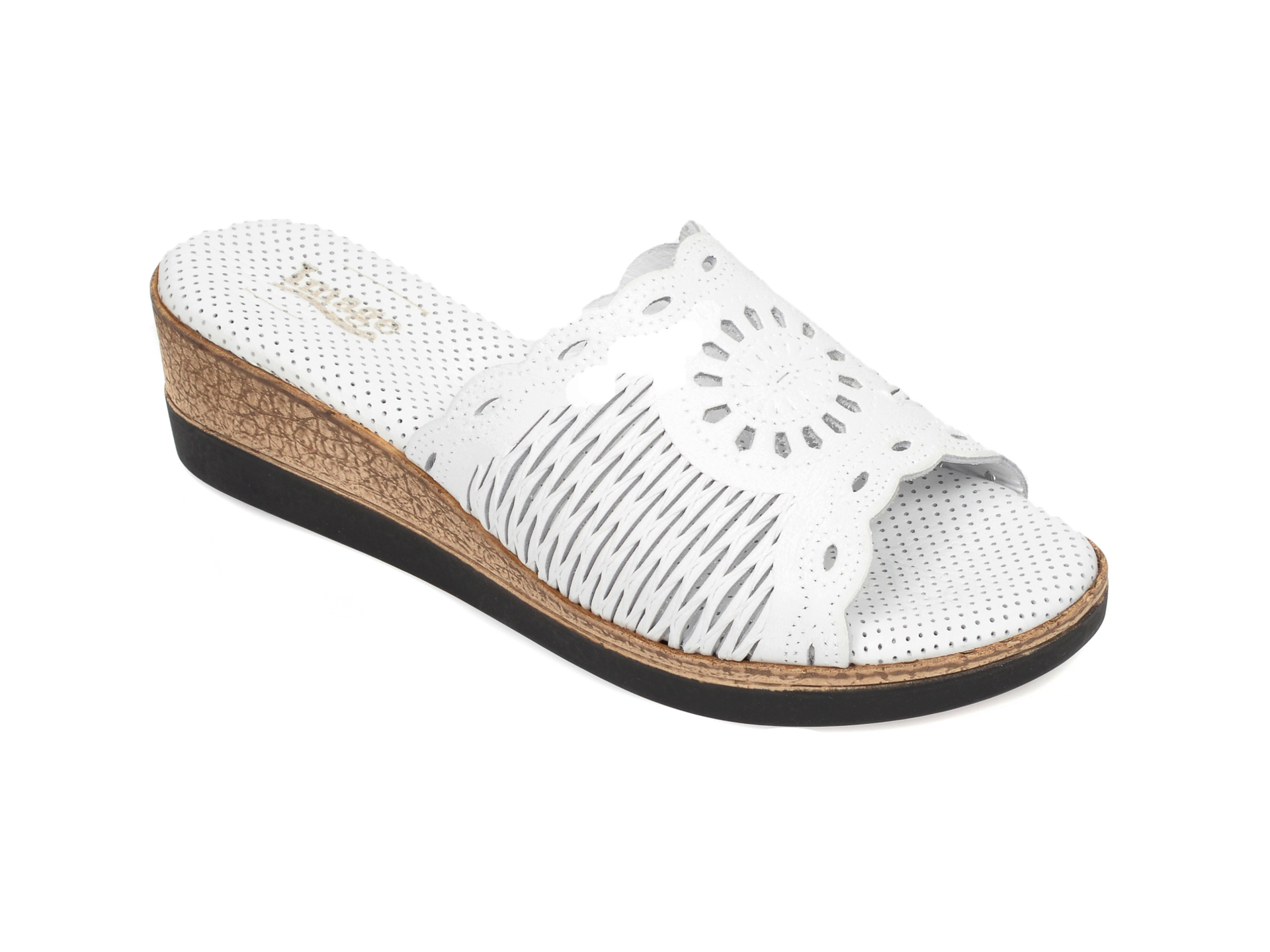 Papuci IMAGE albi, 2005, din piele naturala imagine