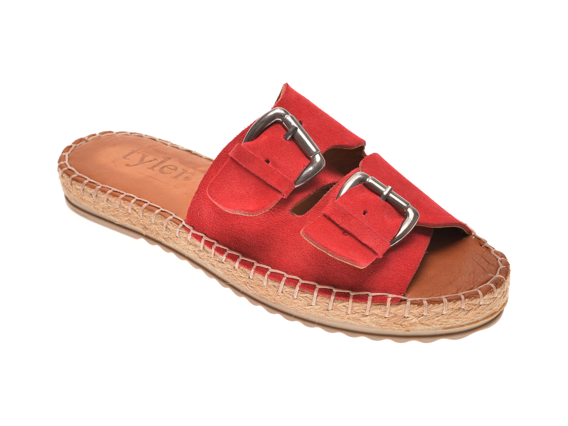 Papuci MESSIMODA rosii, 18Y1158, din piele intoarsa imagine