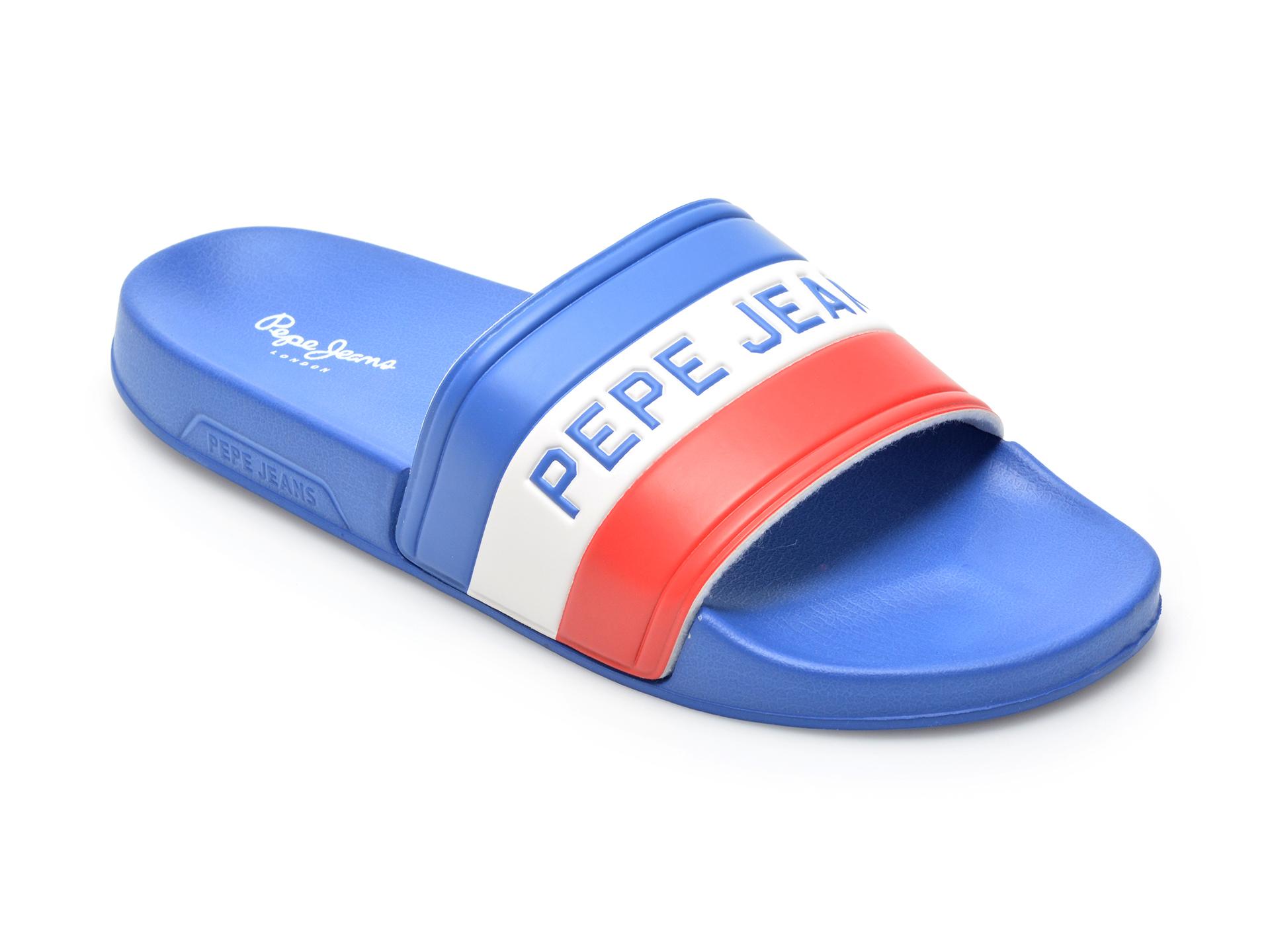 Papuci PEPE JEANS albastri, 7009599, din pvc
