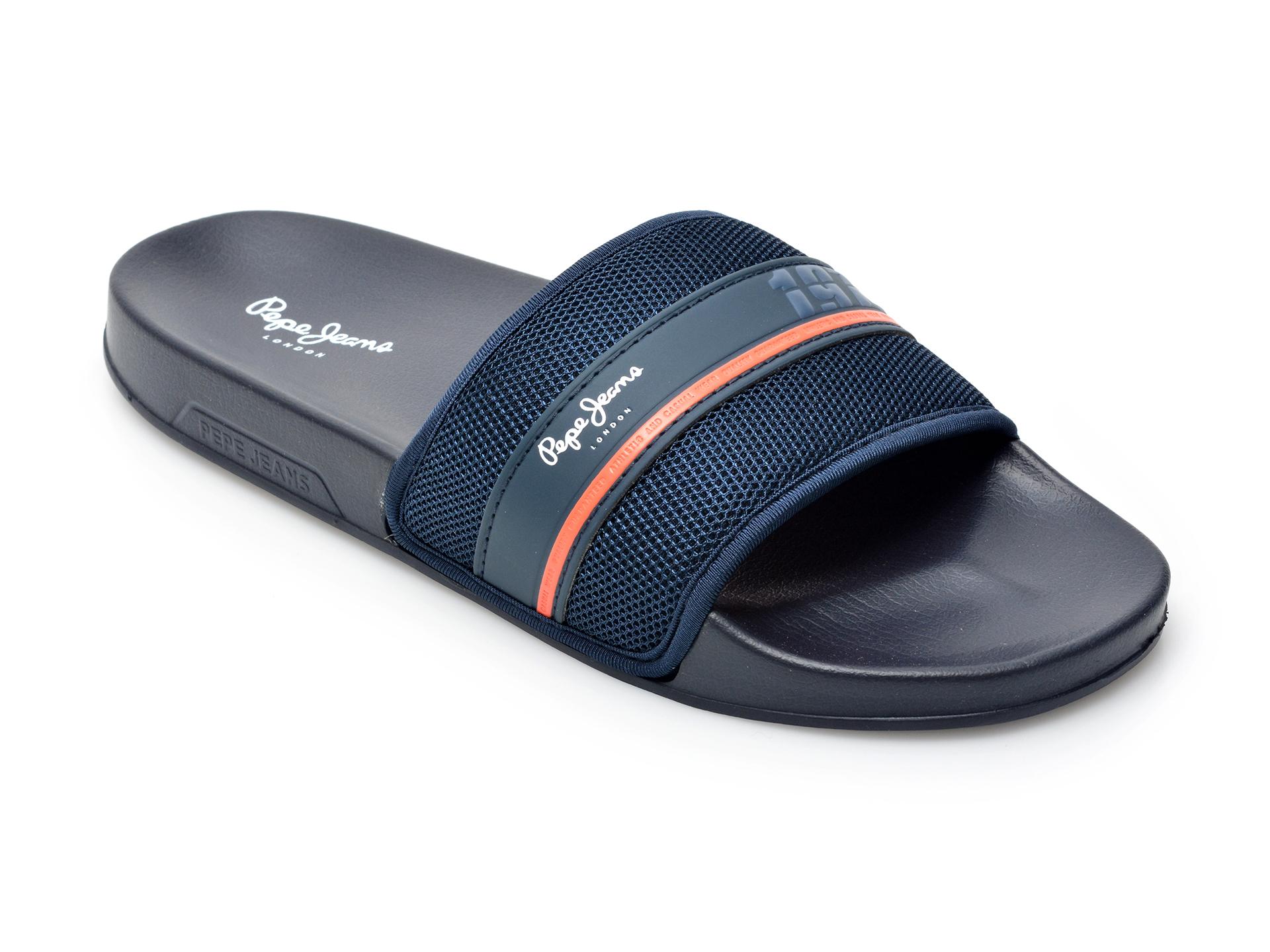 Papuci PEPE JEANS bleumarin, 7009499, din material textil