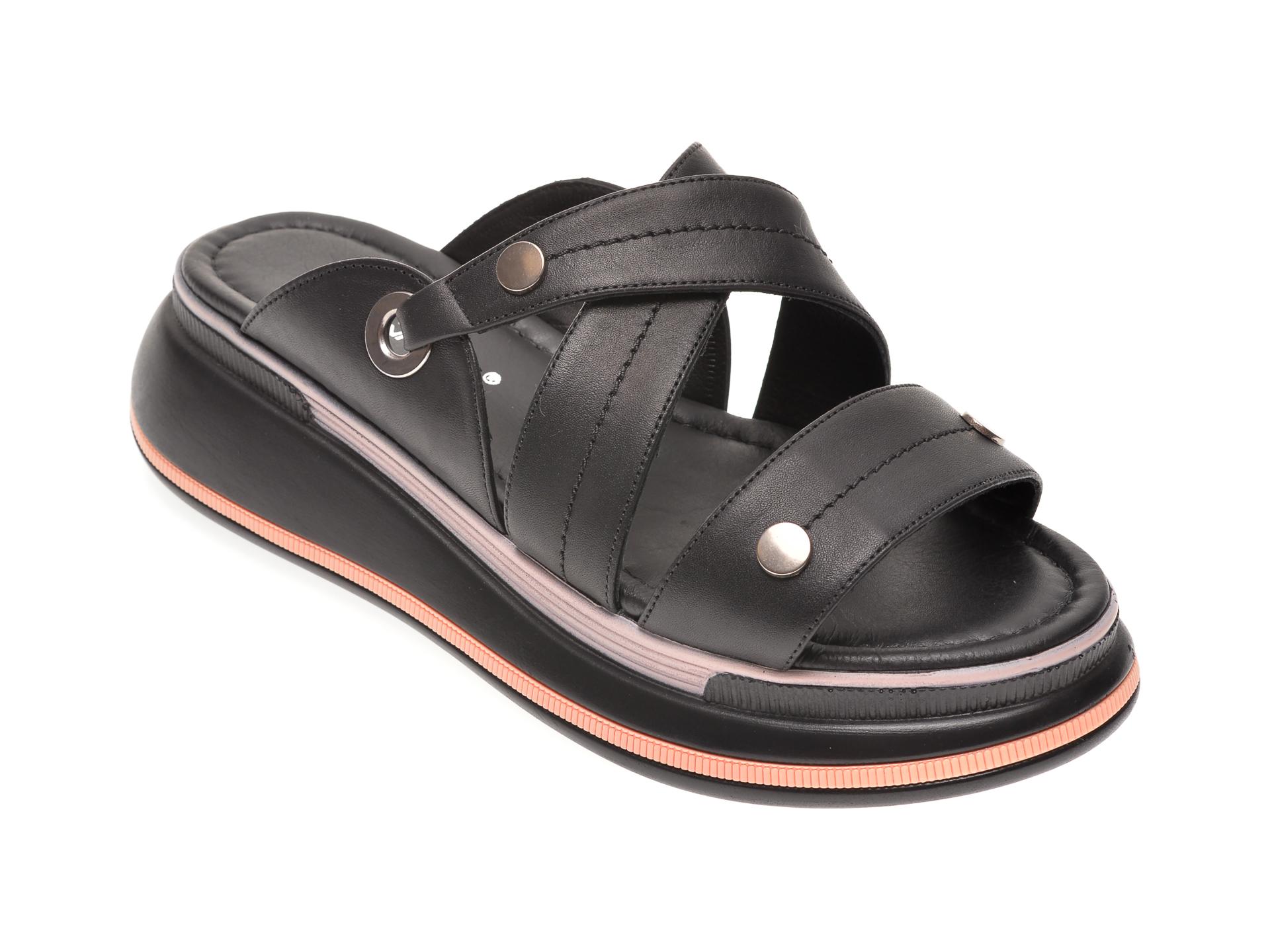 Papuci PERA DONNA negri, 2386, din piele naturala
