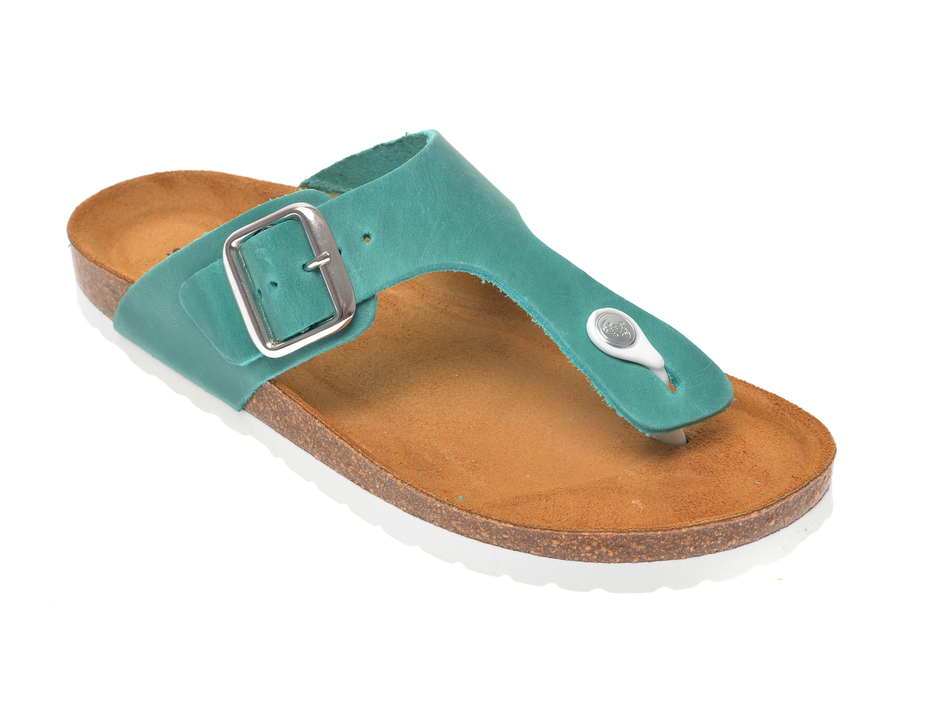 Papuci SALAMANDER verzi, 13014, din piele naturala