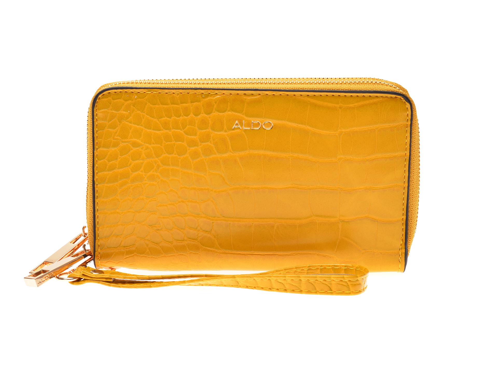 Portofel ALDO galben, 12905392, din piele ecologica imagine