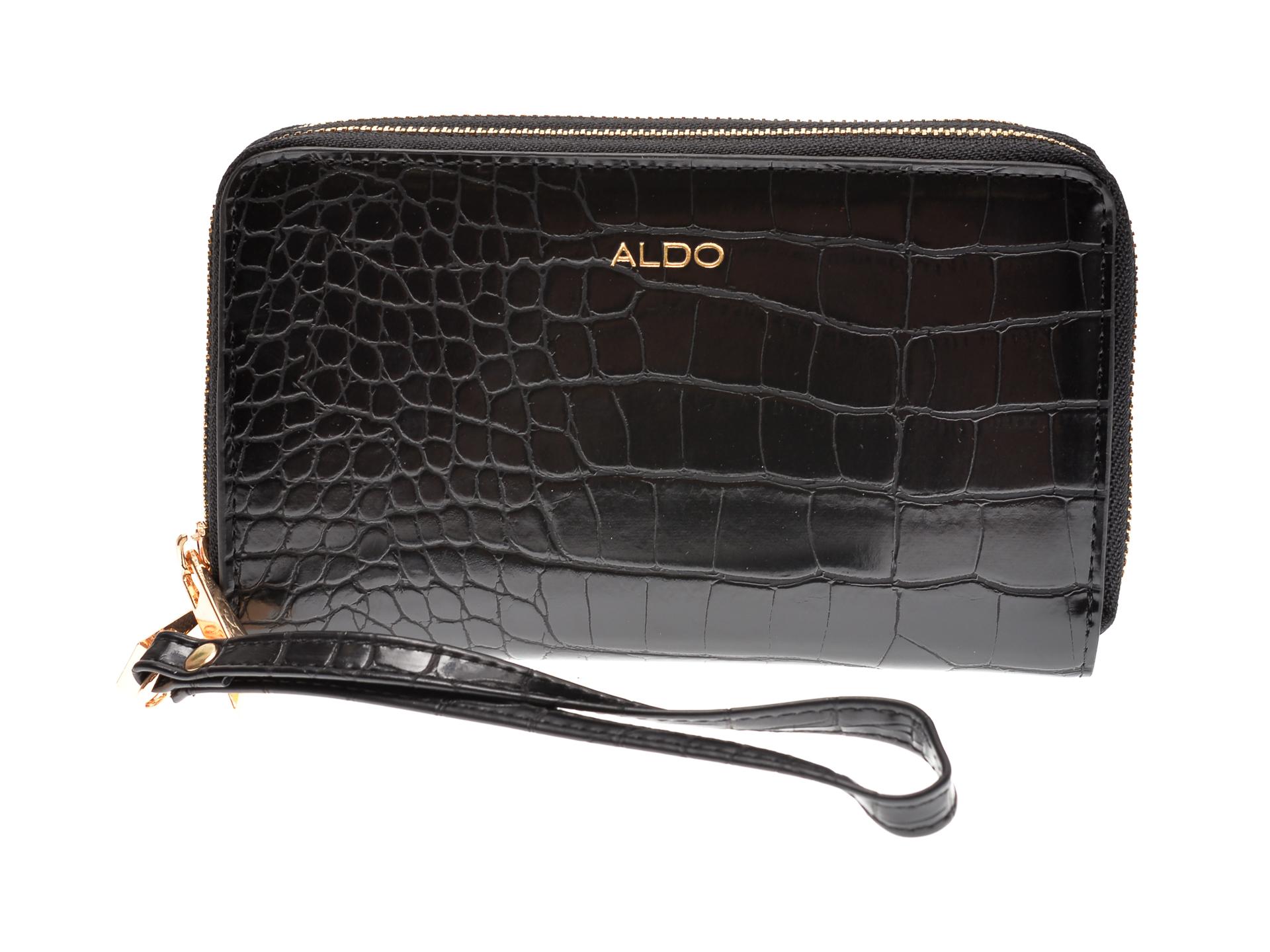 Portofel ALDO negru, Aforeri007, din piele ecologica imagine