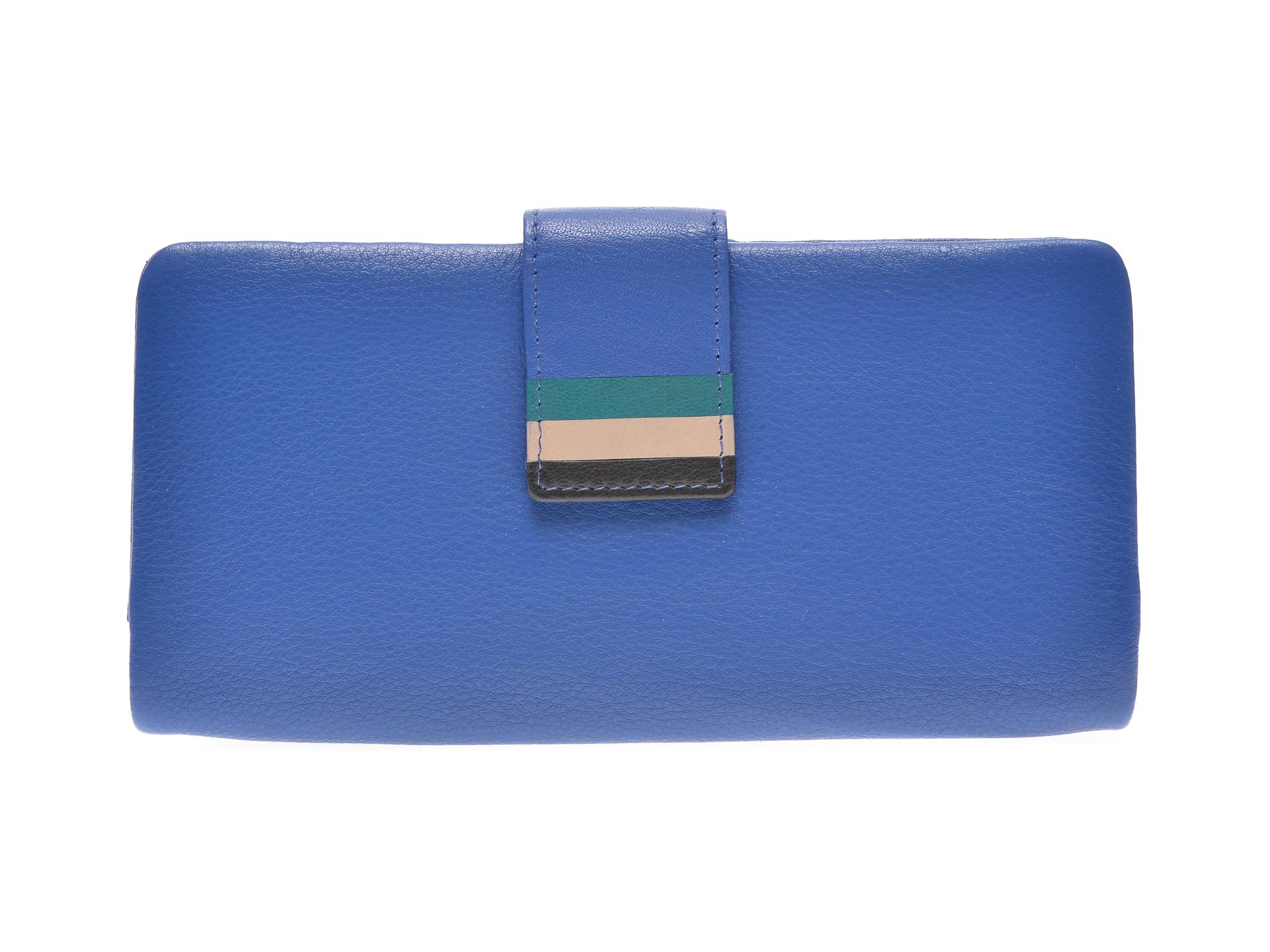 Portofel EPICA albastru, 7081, din piele naturala imagine