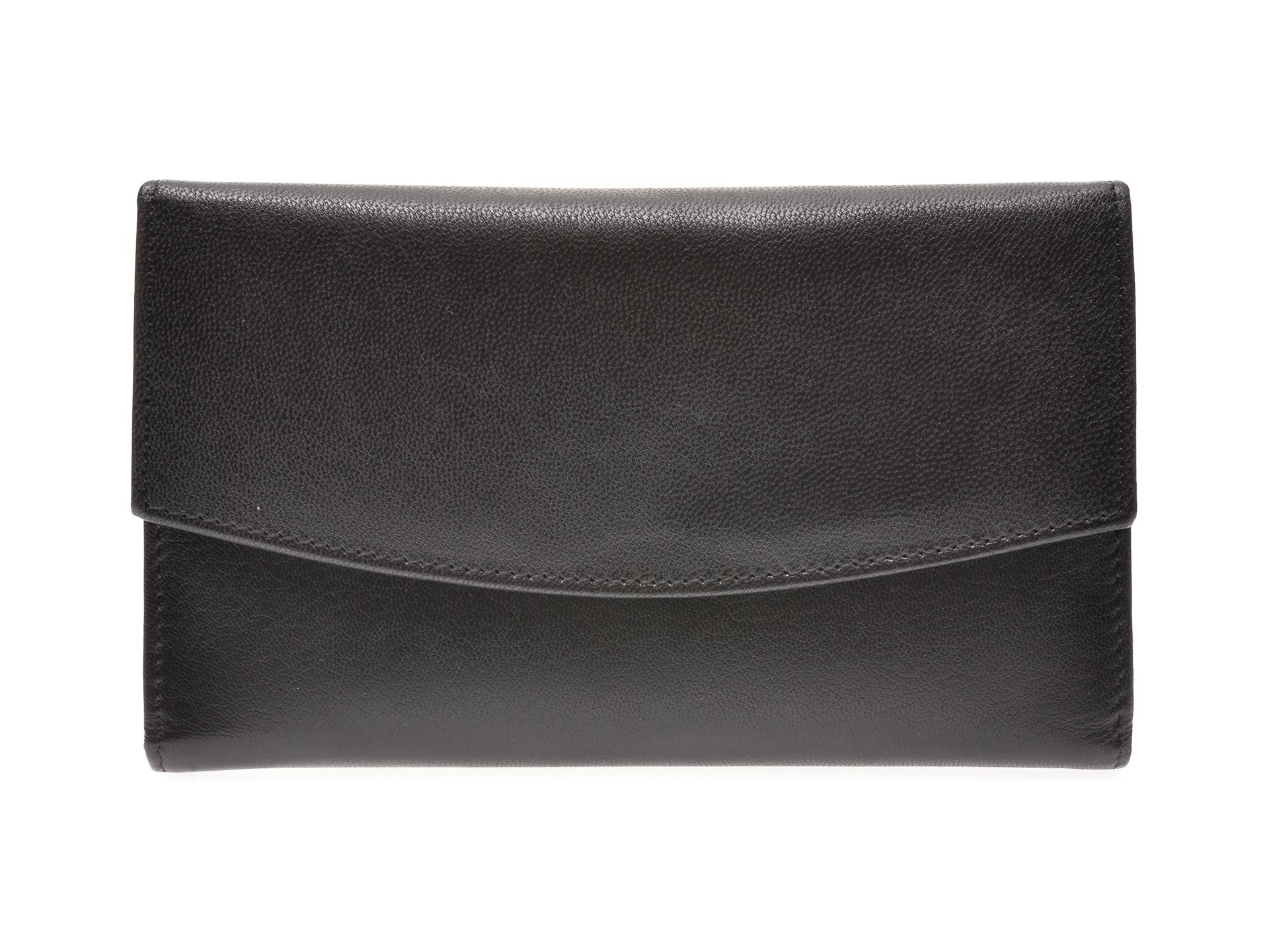 Portofel EPICA negru, 107, din piele naturala imagine