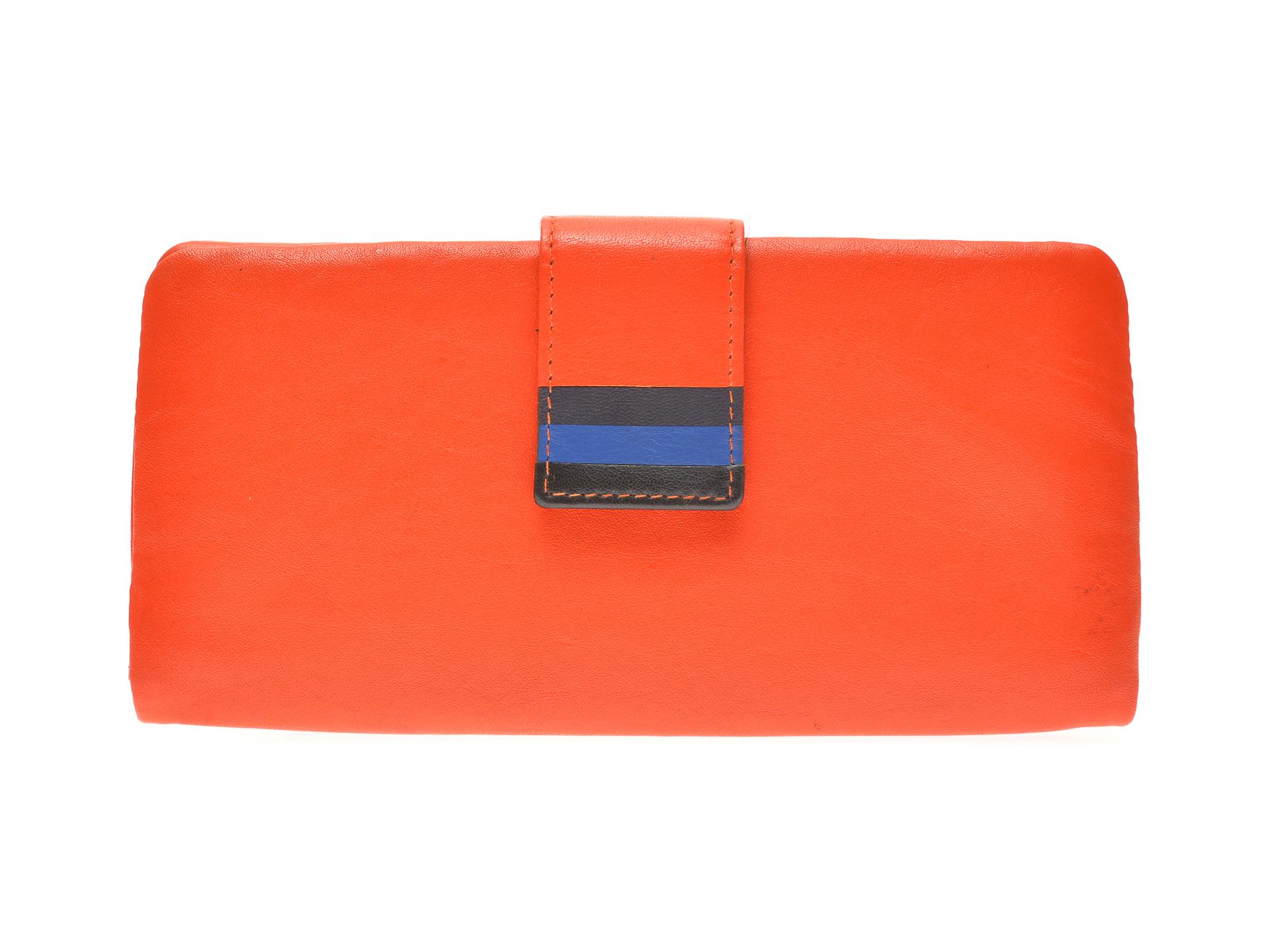 Portofel EPICA portocaliu, 7081, din piele naturala imagine