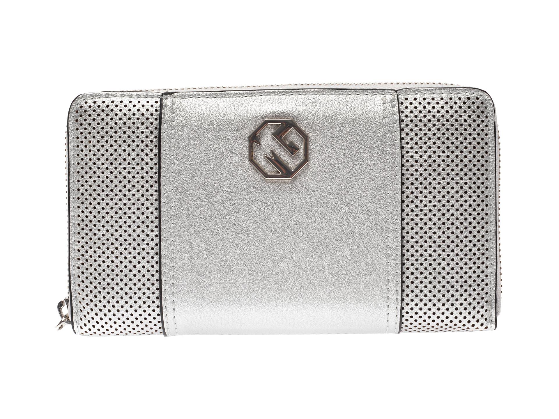 Portofel MARINA GALANTI argintiu, 17L32, din piele ecologica imagine