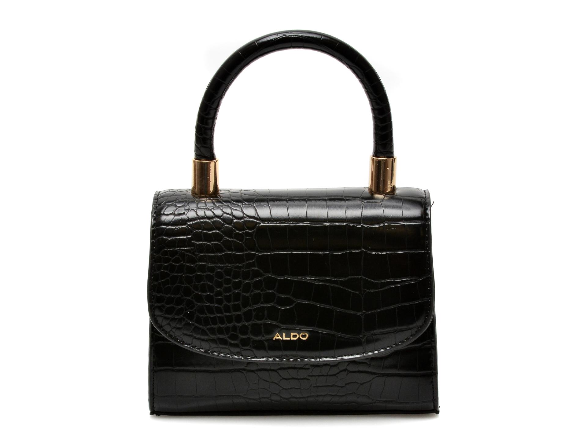 Poseta ALDO neagra, Amzax001, din piele ecologica imagine otter.ro 2021
