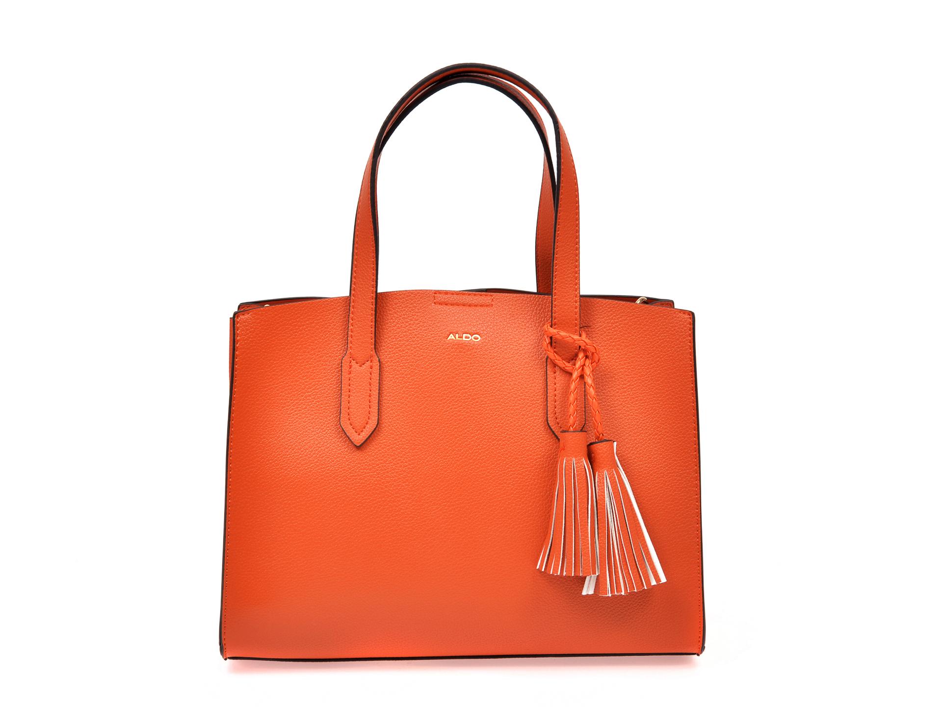 Poseta ALDO portocalie, Achilliea801, din piele ecologica imagine