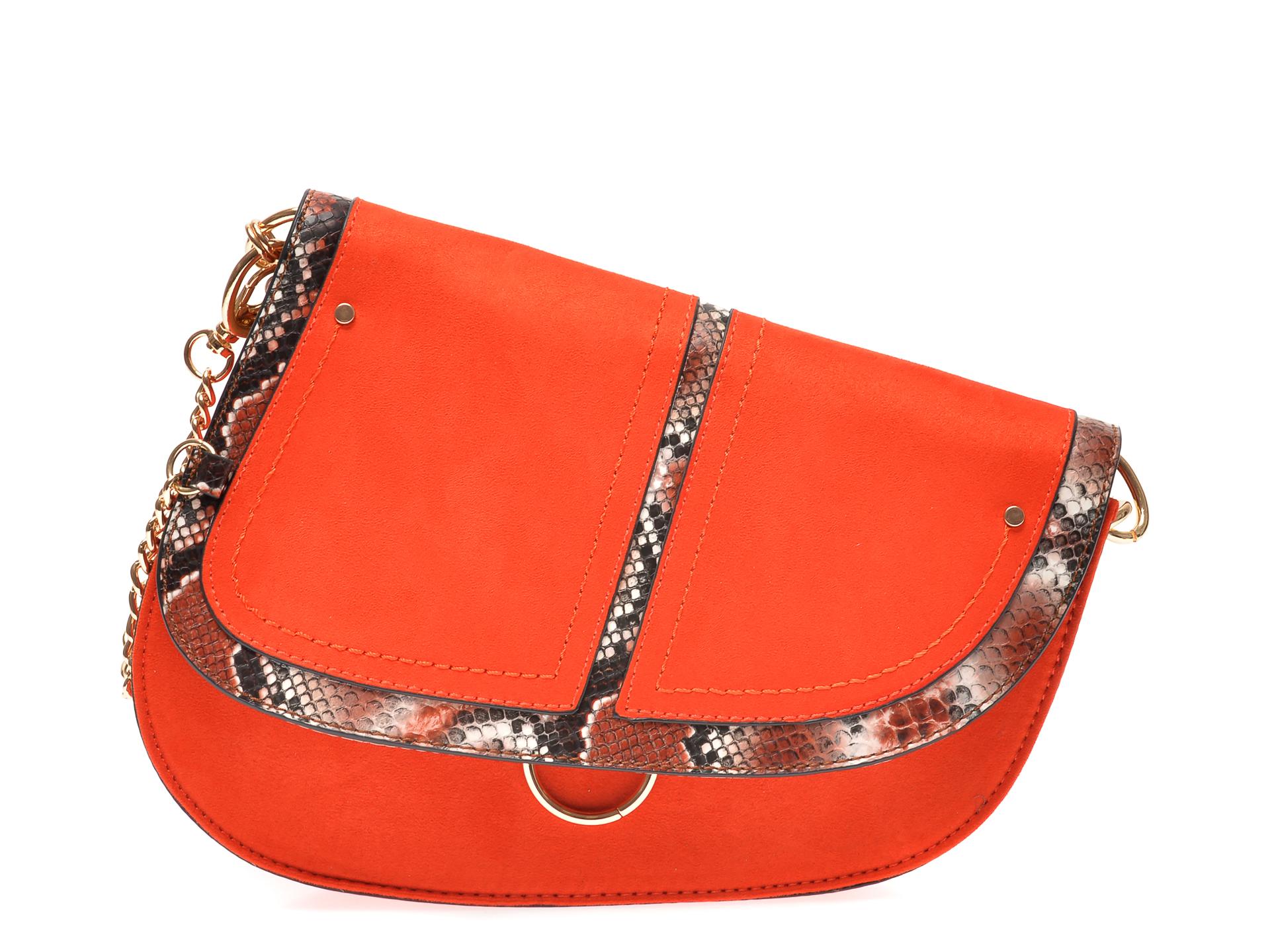Poseta CALL IT SPRING portocalie, PHOE840, din piele ecologica imagine