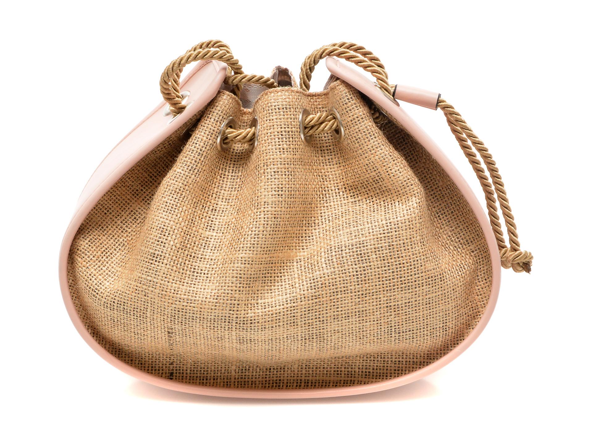 Poseta FLAVIA PASSINI nude, OZN, din material textil si piele ecologica