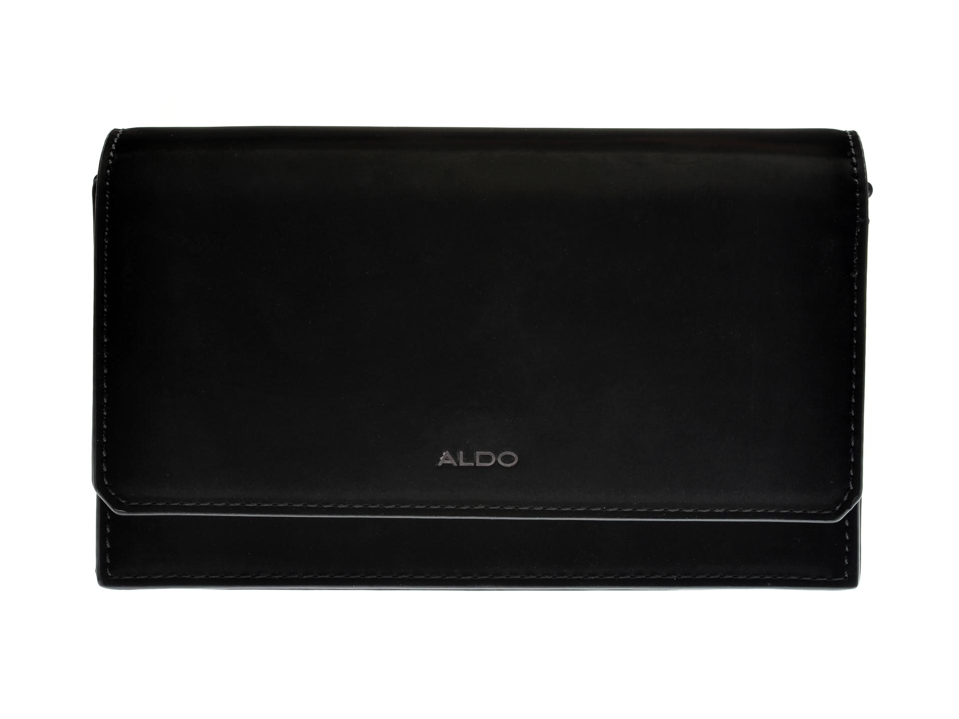 Poseta plic ALDO neagra, Telopea008, din piele ecologica imagine