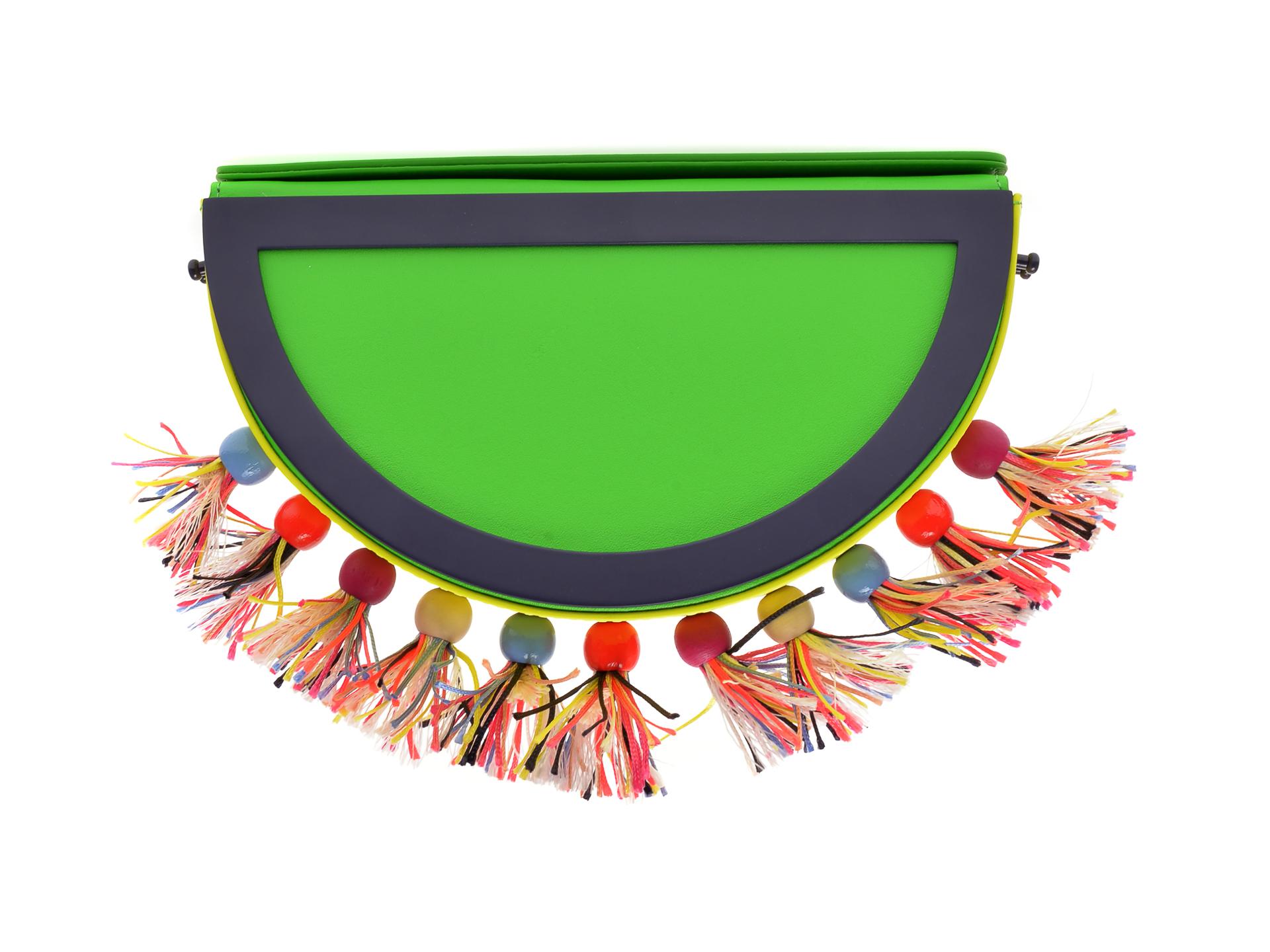 Poseta plic EPICA multicolora, YANG, din piele naturala imagine