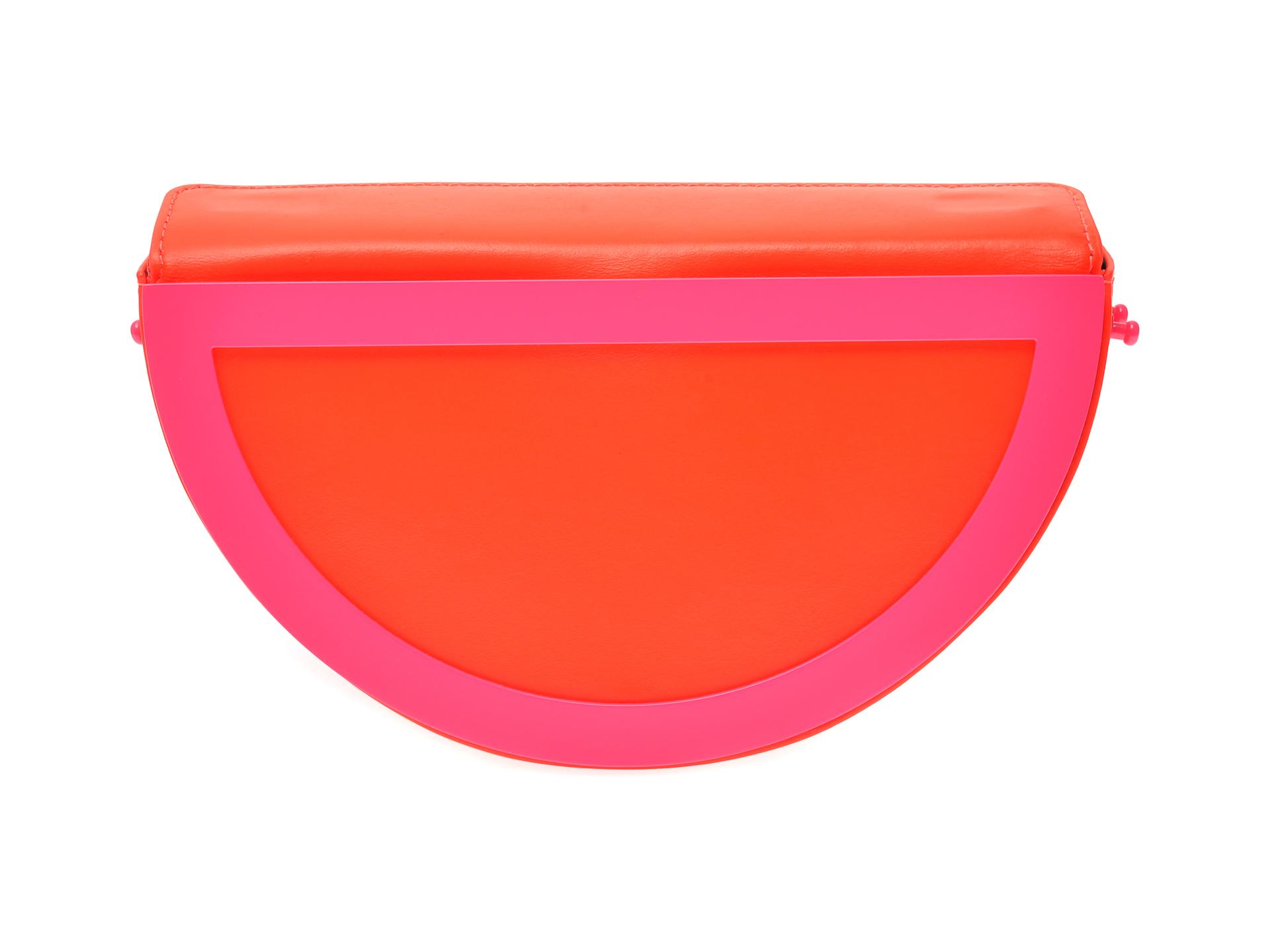 Poseta plic EPICA portocalie, YANG, din piele naturala imagine