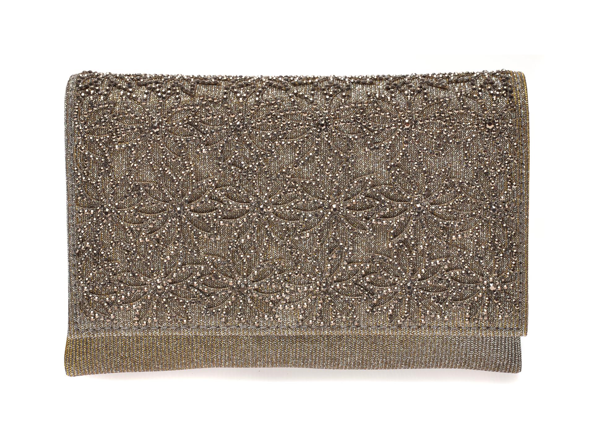 Poseta plic MENBUR argintie, 84746, din material textil