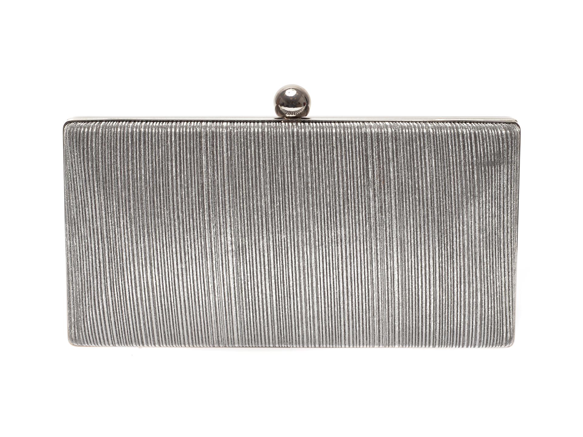 Poseta plic MENBUR argintie, 84759, din material textil imagine