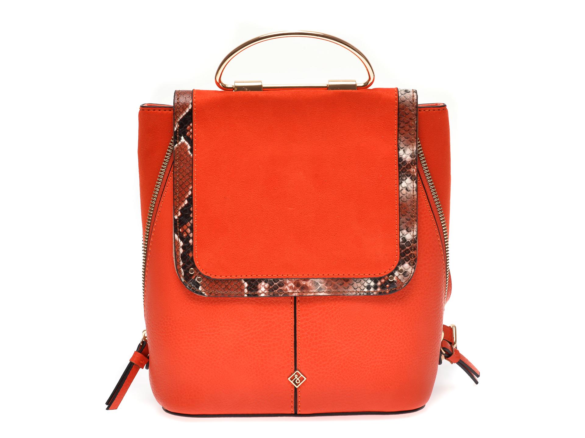 Rucsac CALL IT SPRING portocaliu, TRAI840, din piele ecologica imagine