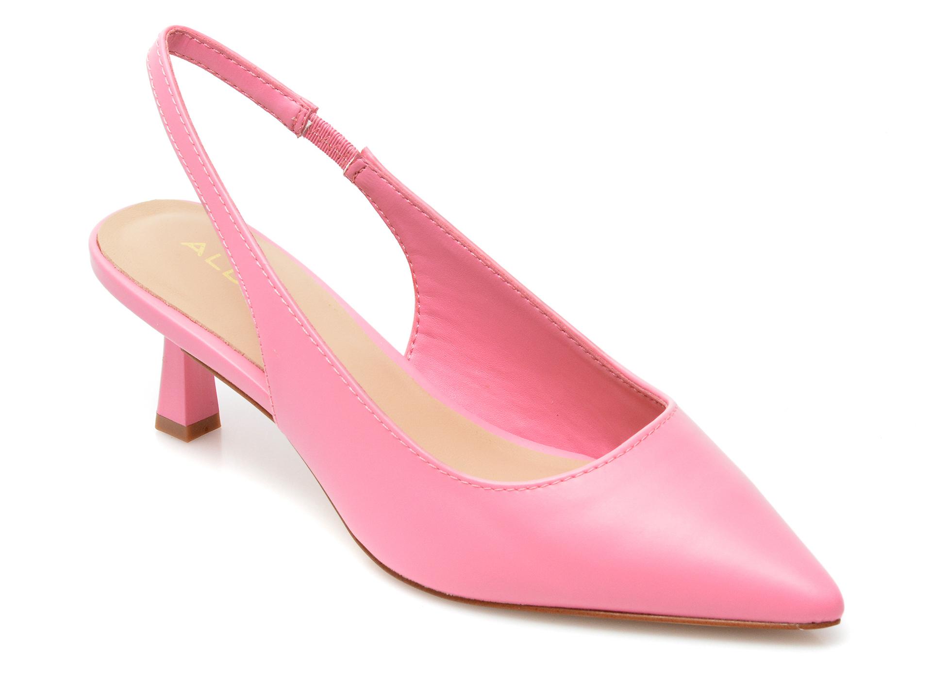 Saboti ALDO roz, Peranga650, din piele ecologica imagine otter.ro