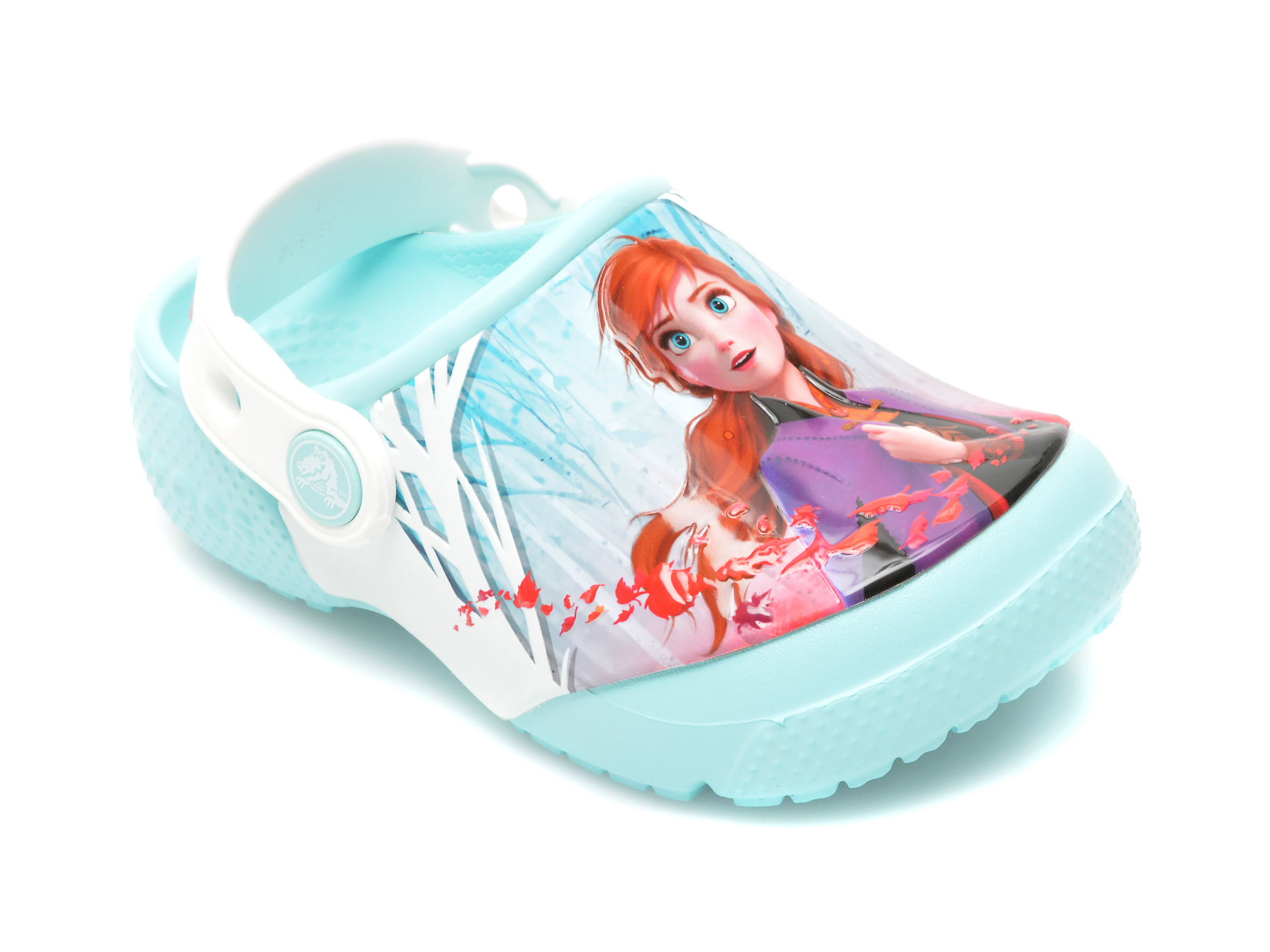 Saboti CROCS albastri, Crocsfl Ol Disney Frozen2 Cg K, din pvc