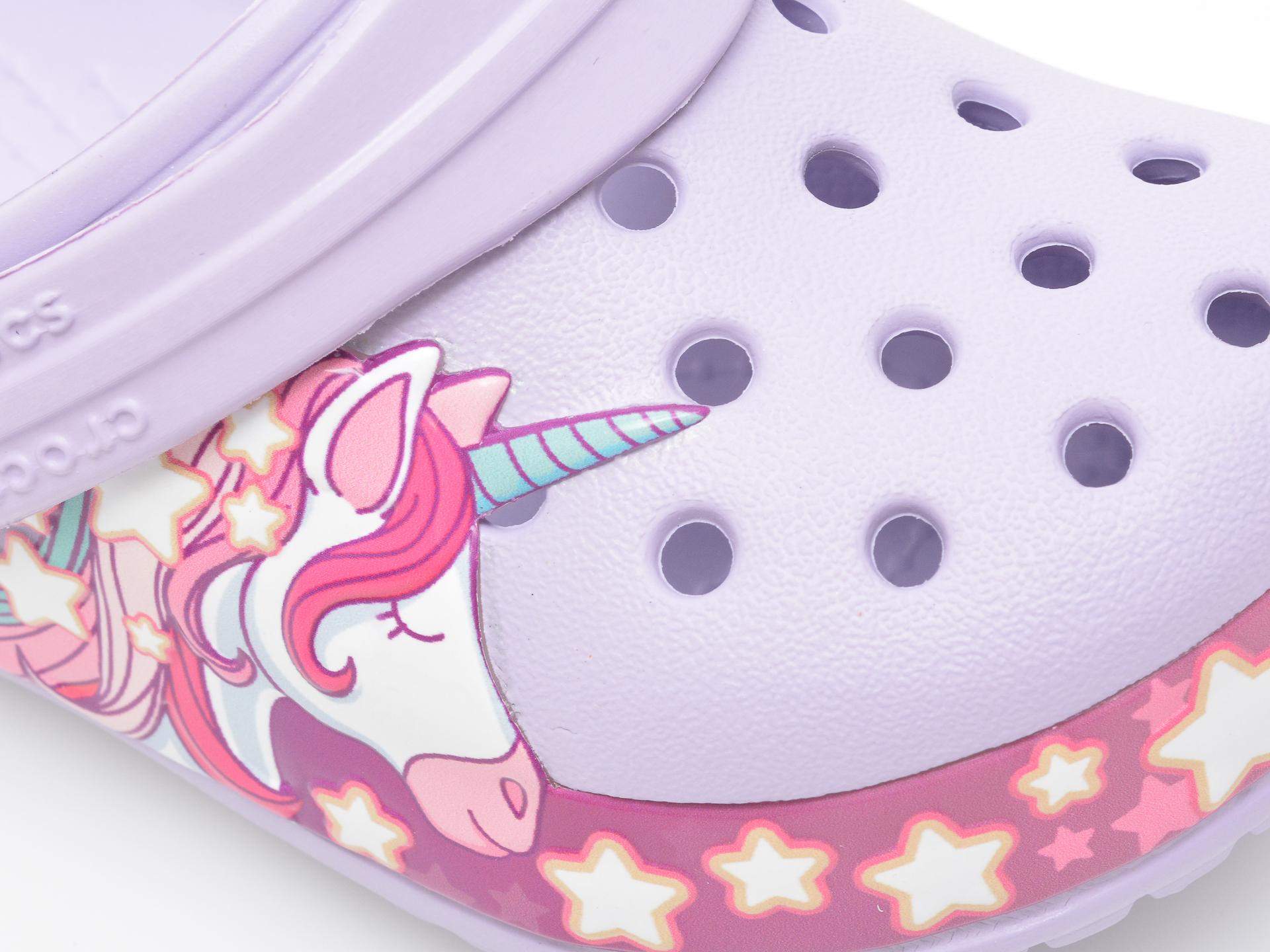 Saboti CROCS mov, Crocs Funlab Unicorn Band Cg K, din pvc - 2
