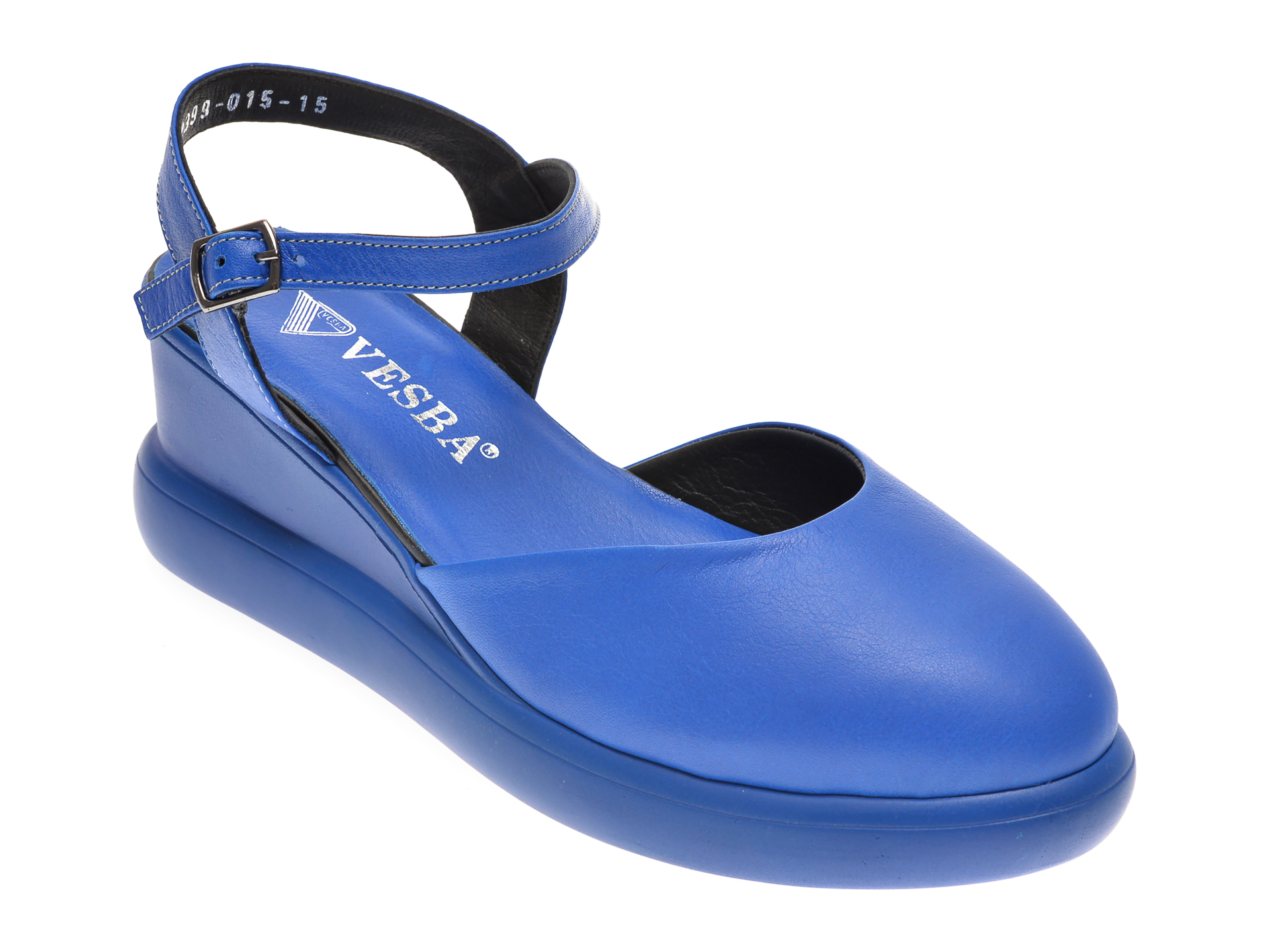 Saboti VESBA albastri, 2399, din piele naturala