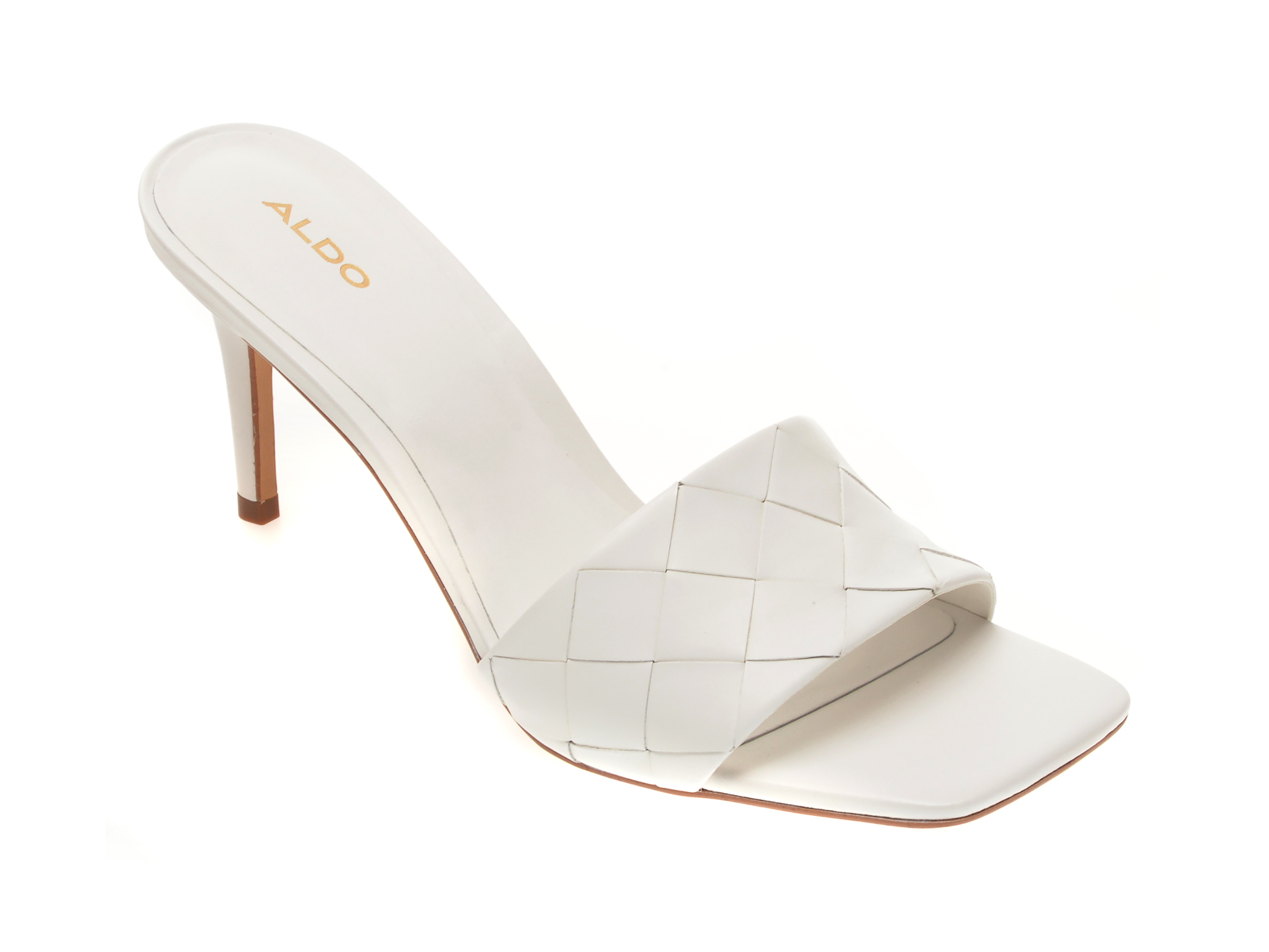 Sandale ALDO albe, Acendan100, din piele naturala imagine otter.ro 2021