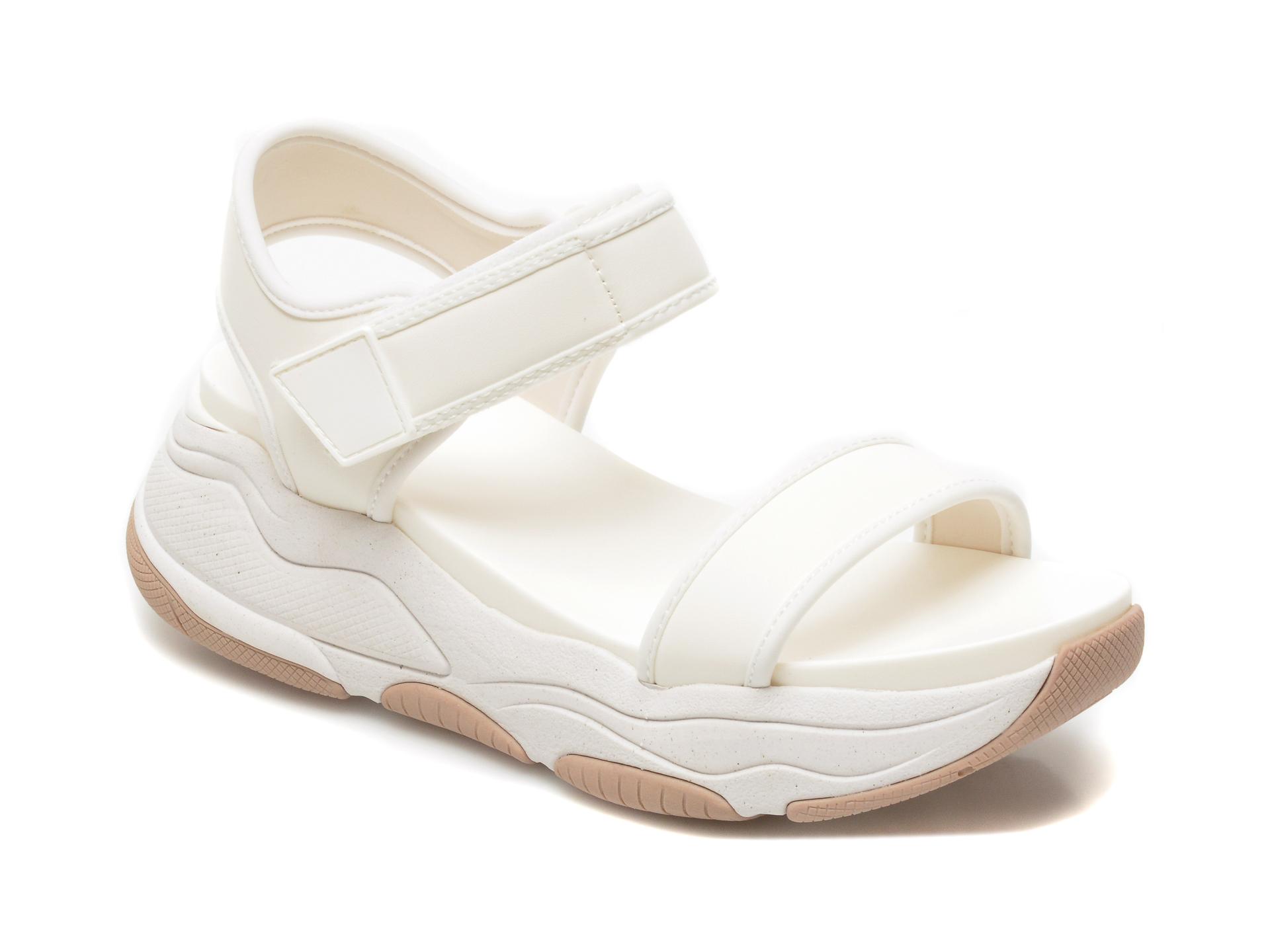 Sandale ALDO albe, Adweaven100, din piele ecologica imagine otter.ro 2021