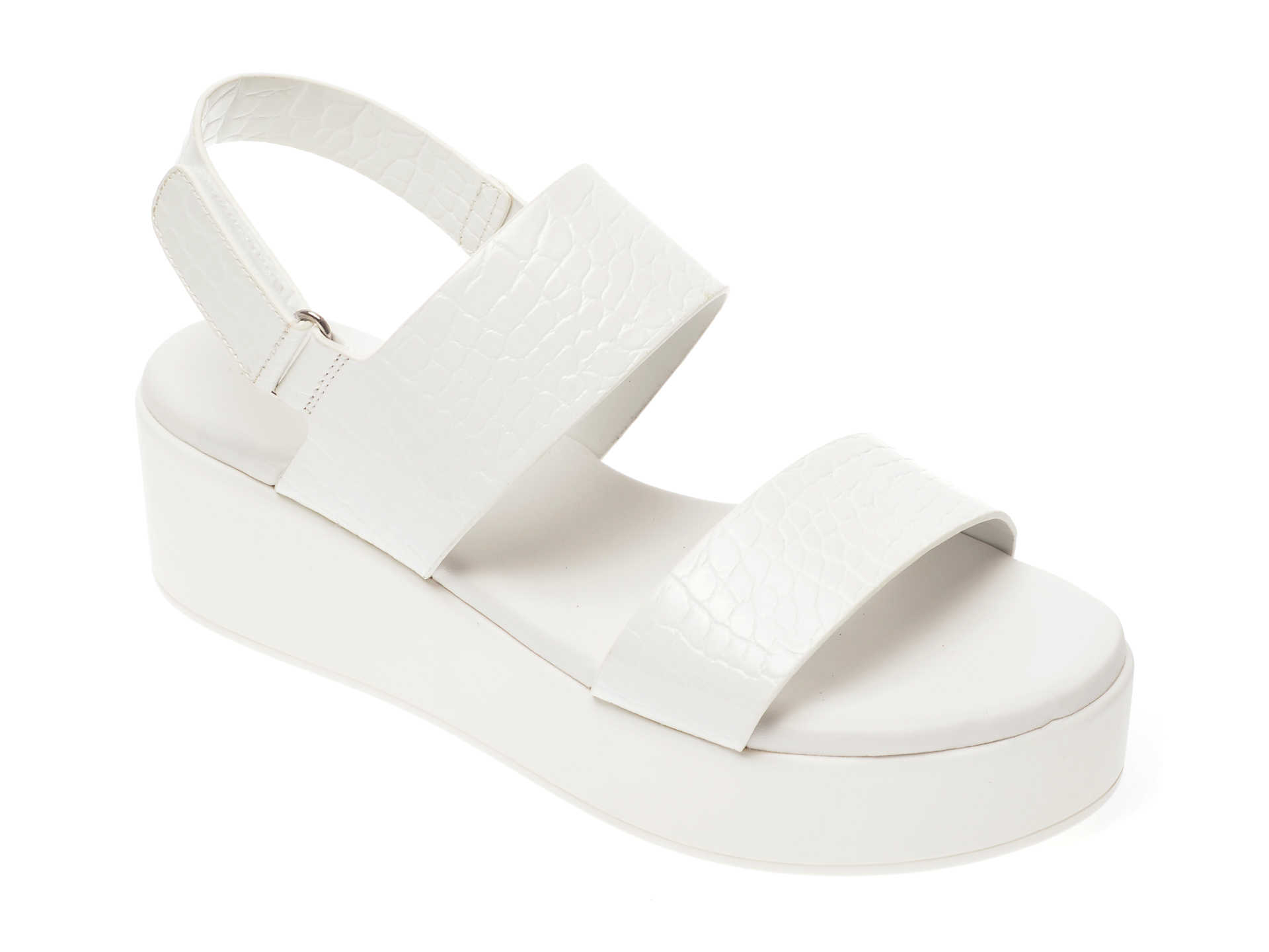 Sandale ALDO albe, Agrerinia100, din piele ecologica