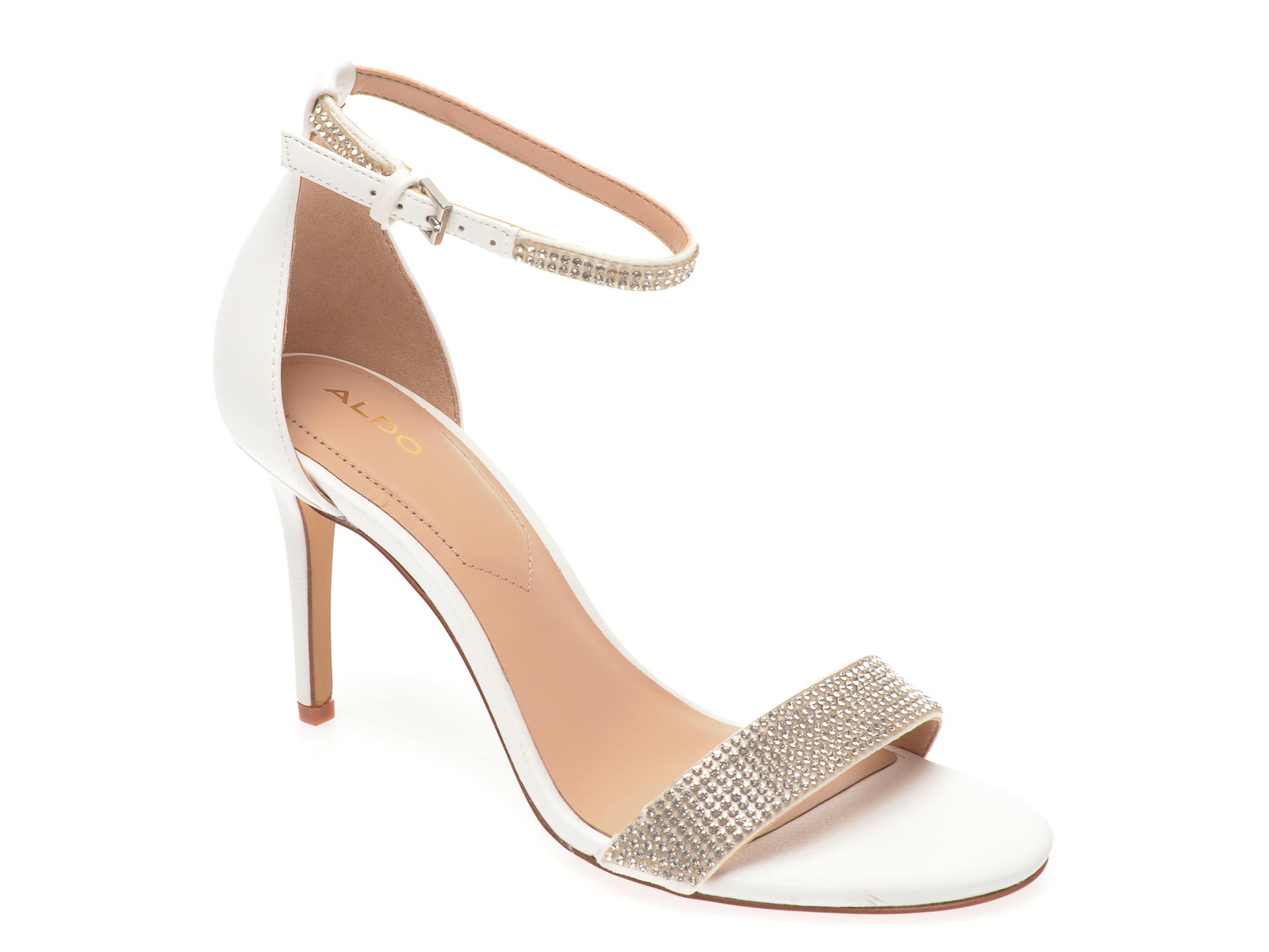 Sandale ALDO albe, Alodien100, din piele ecologica