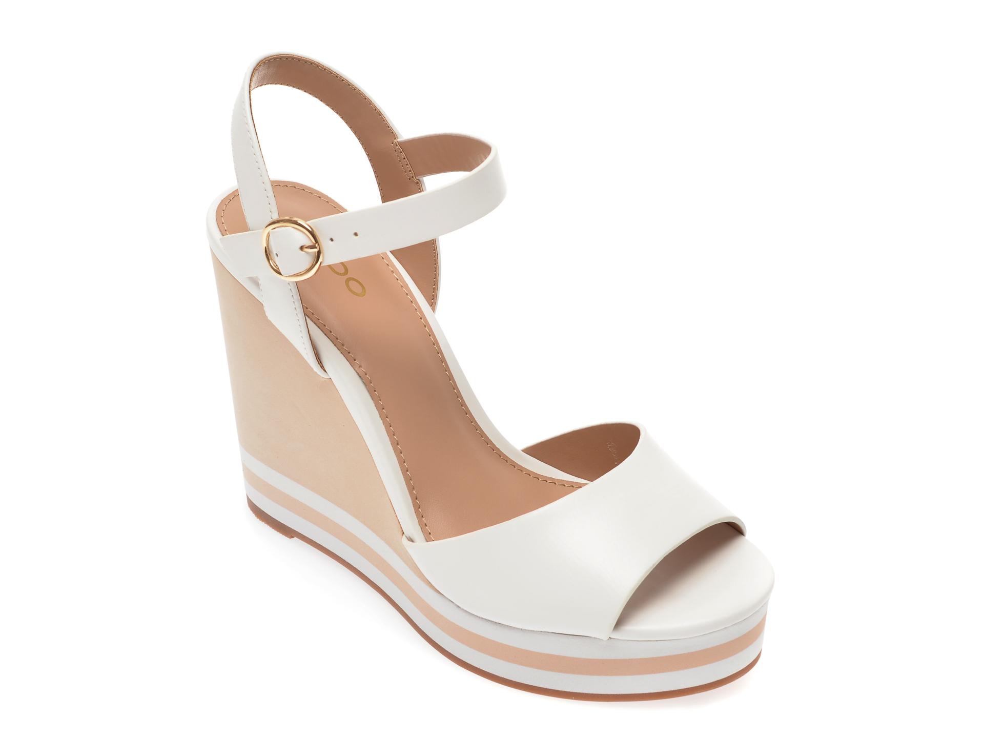 Sandale ALDO albe, Broa100, din piele ecologica