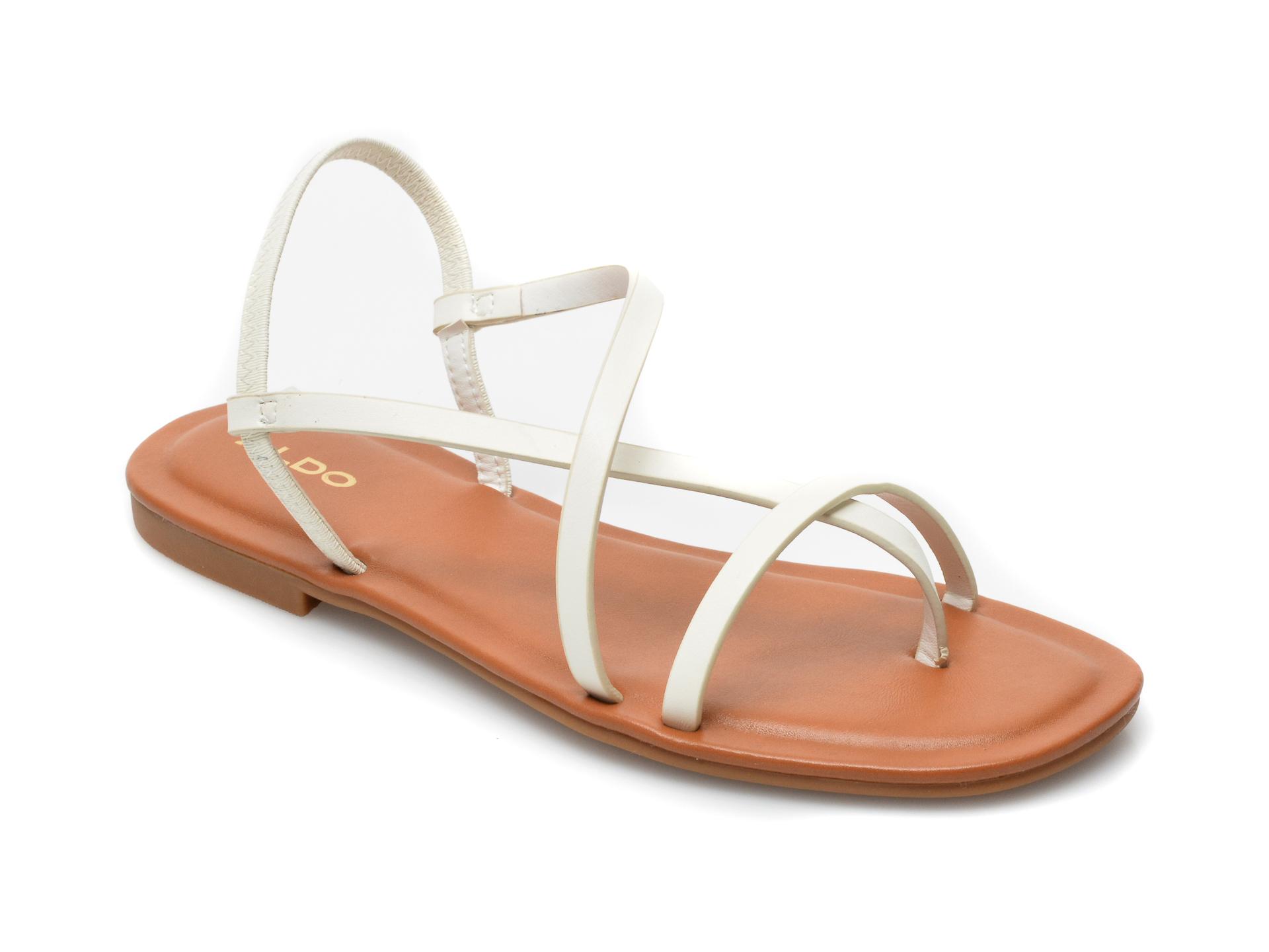Sandale ALDO albe, Broasa100, din piele ecologica imagine otter.ro