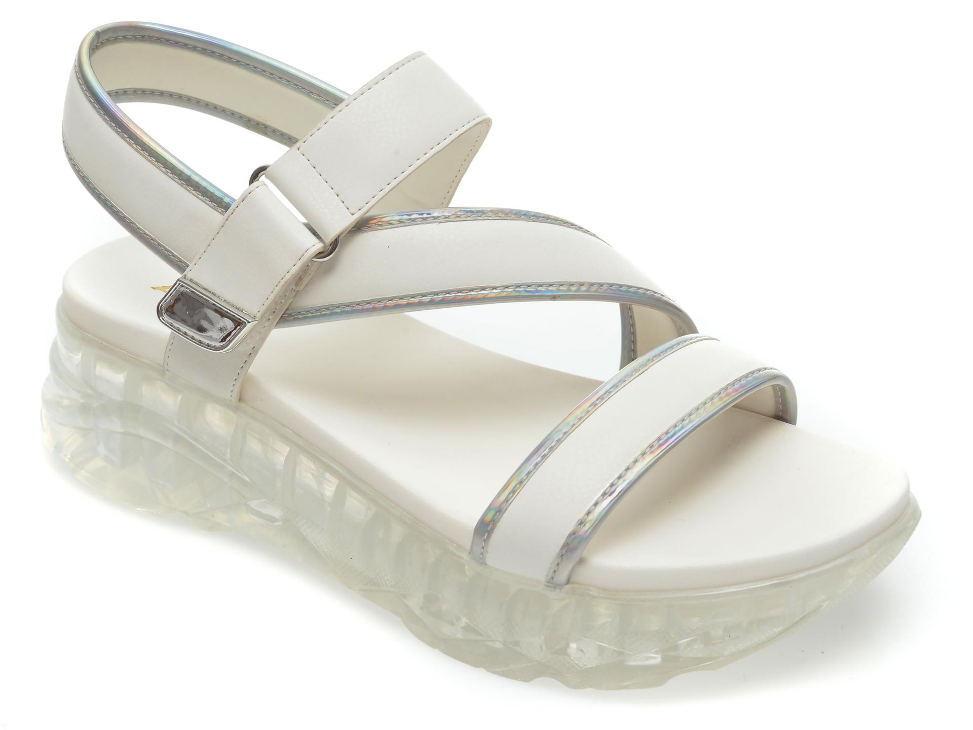Sandale ALDO albe, Diosma100, din piele ecologica imagine otter.ro
