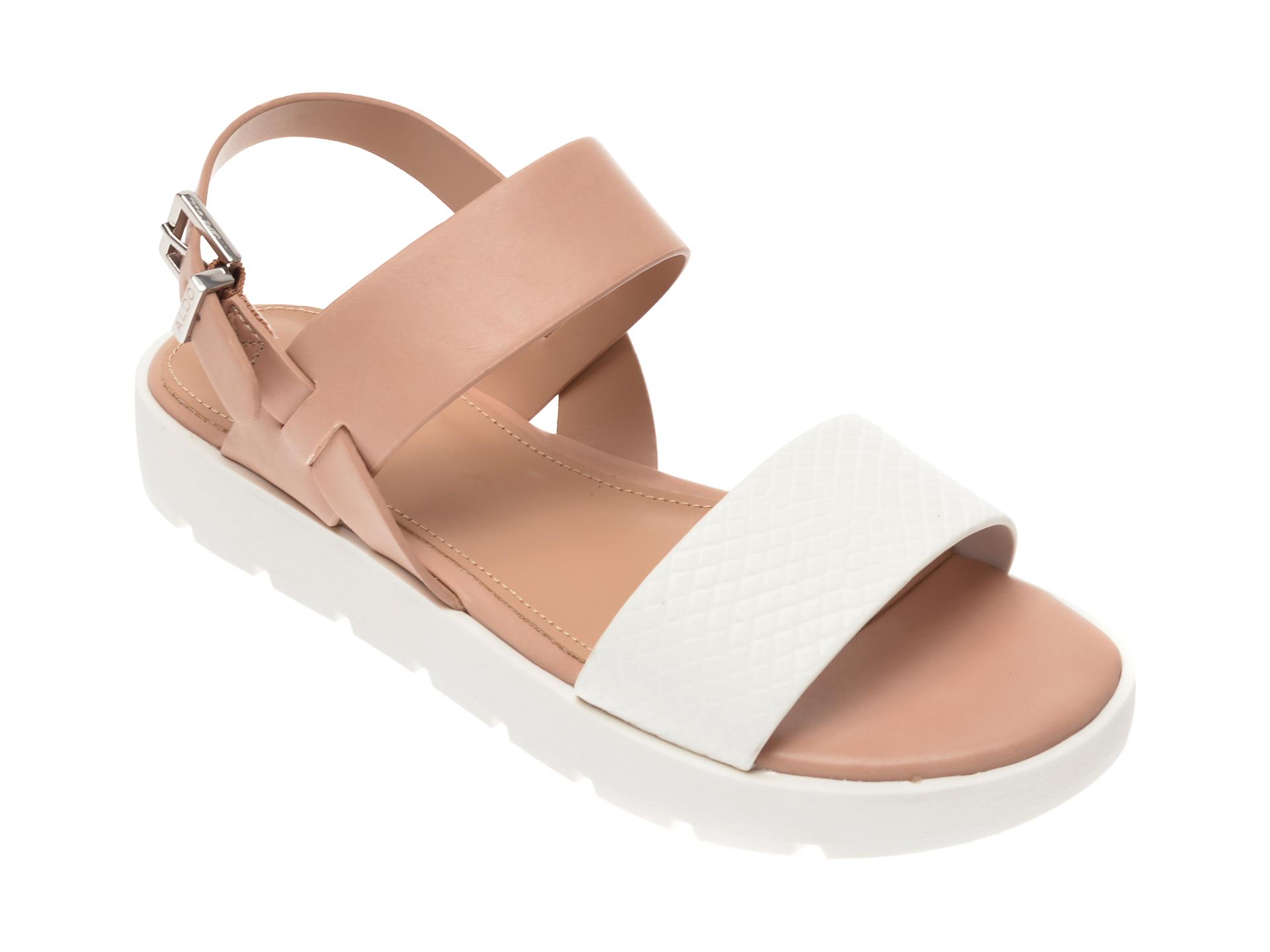 Sandale ALDO albe, Dwylia121, din piele ecologica