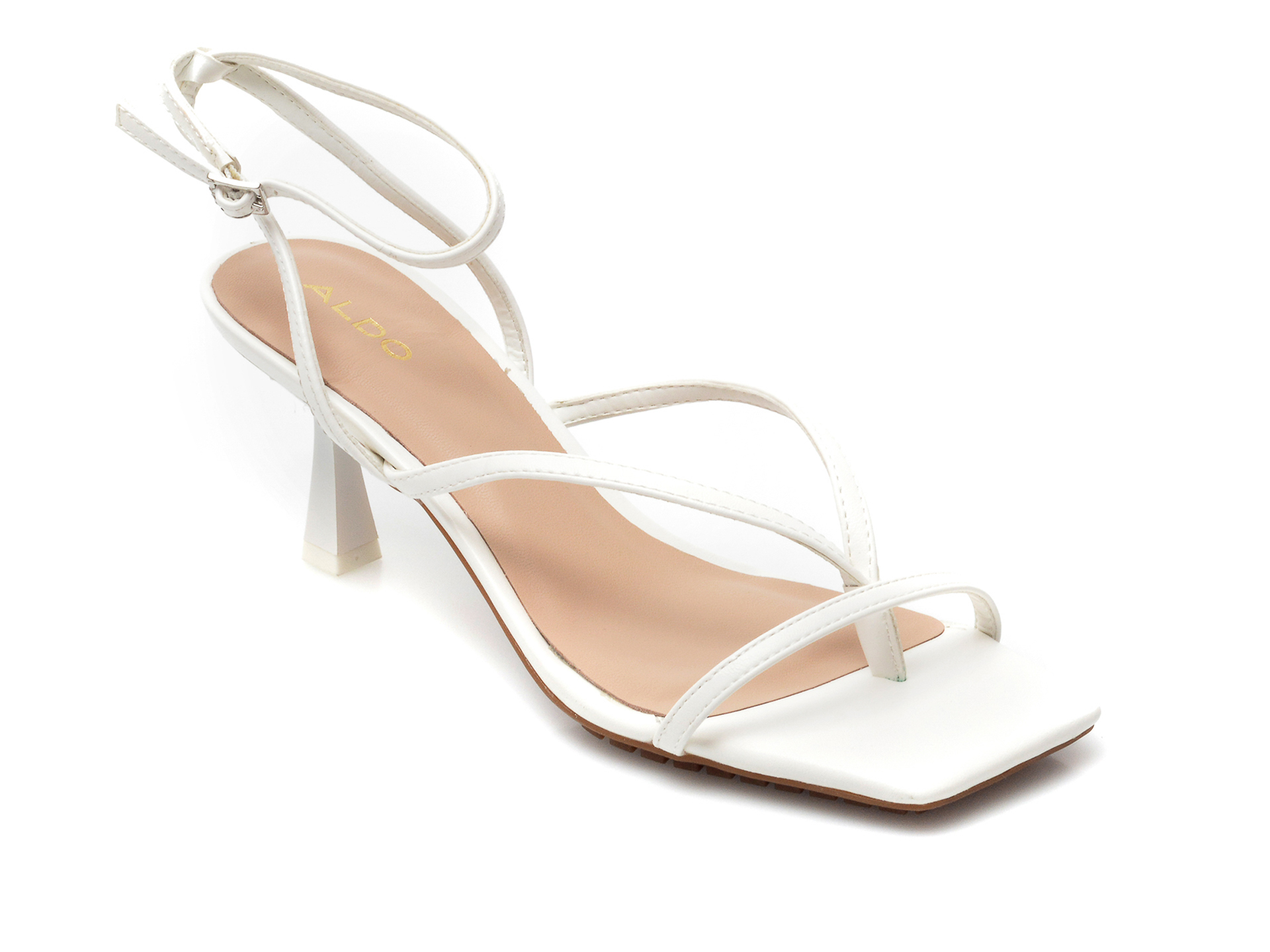 Sandale ALDO albe, Kaviel100, din piele ecologica imagine otter.ro 2021