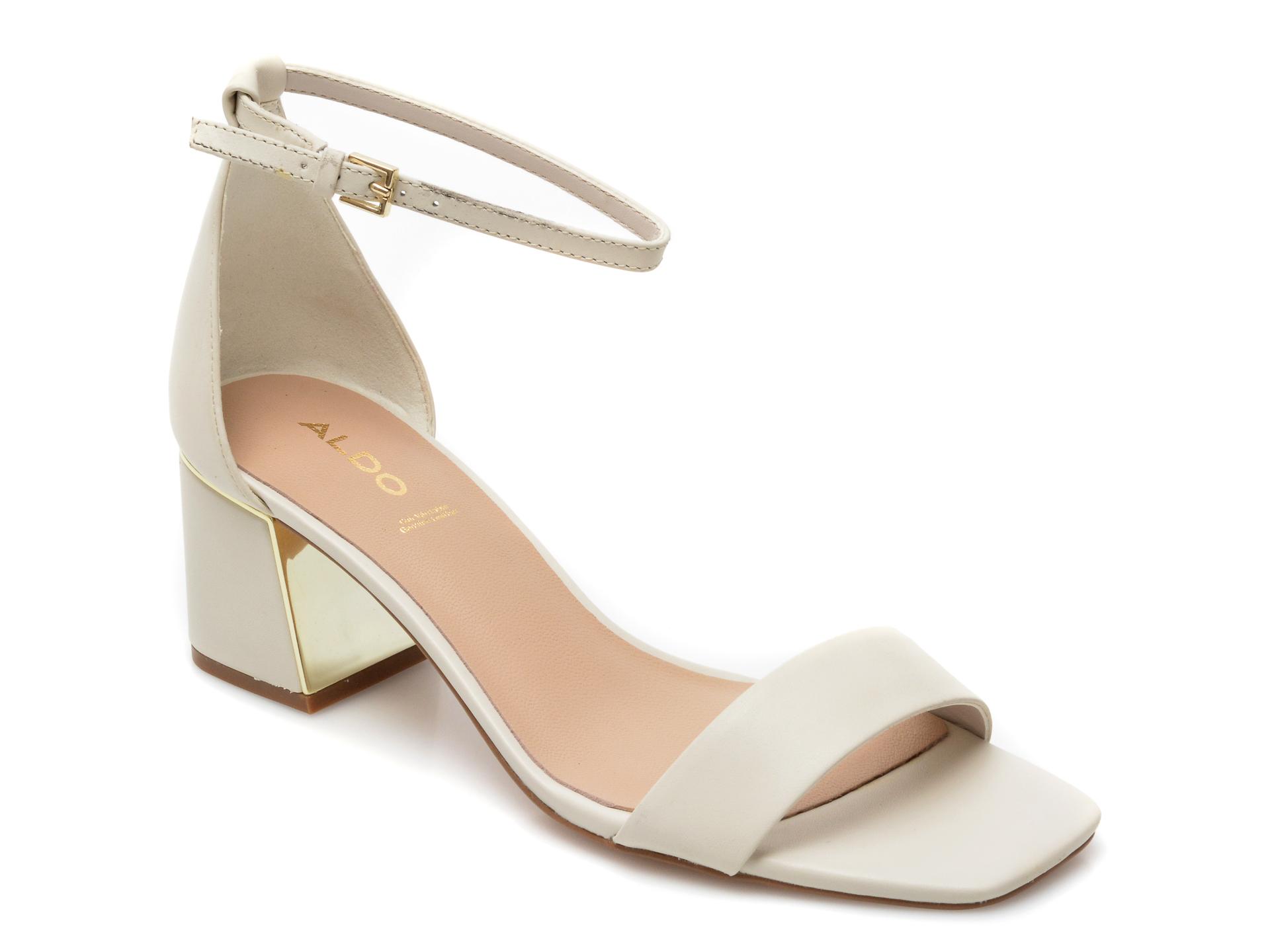 Sandale ALDO albe, Kedeaviel100, din piele naturala imagine otter.ro 2021