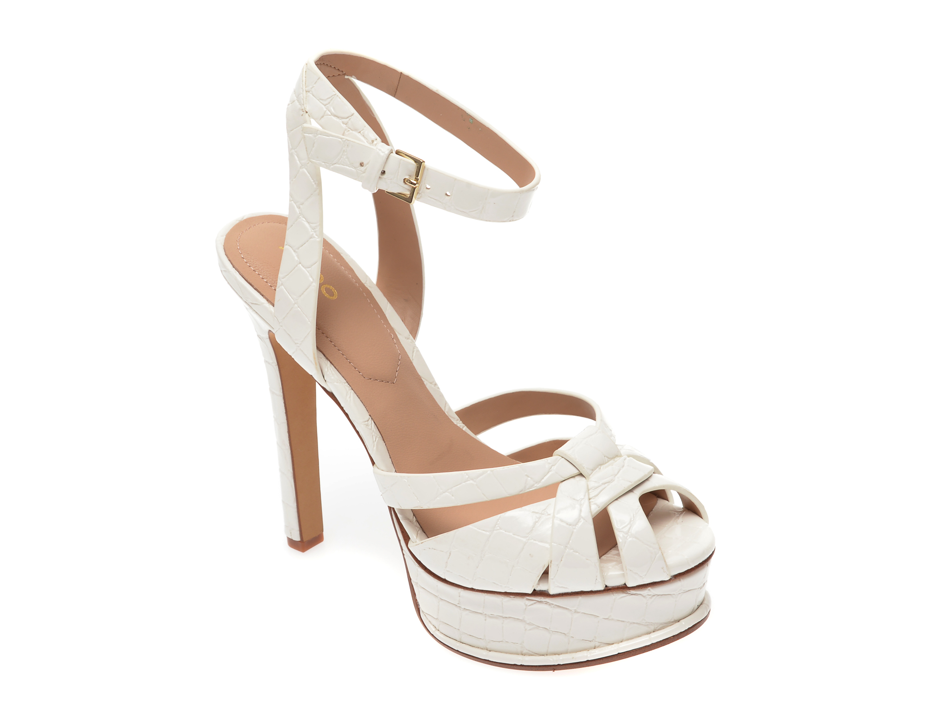 Sandale ALDO albe, Lacla110, din piele ecologica