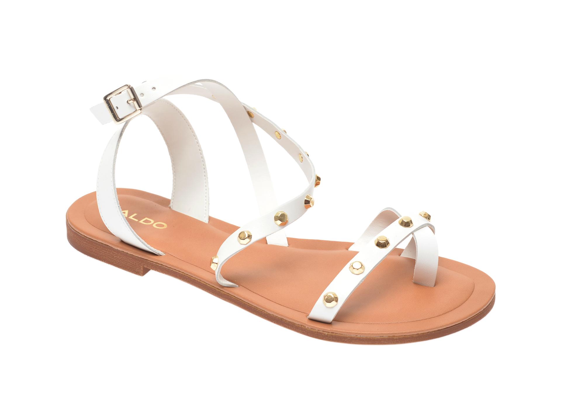 Sandale ALDO albe, Leila100, din piele naturala imagine otter.ro 2021