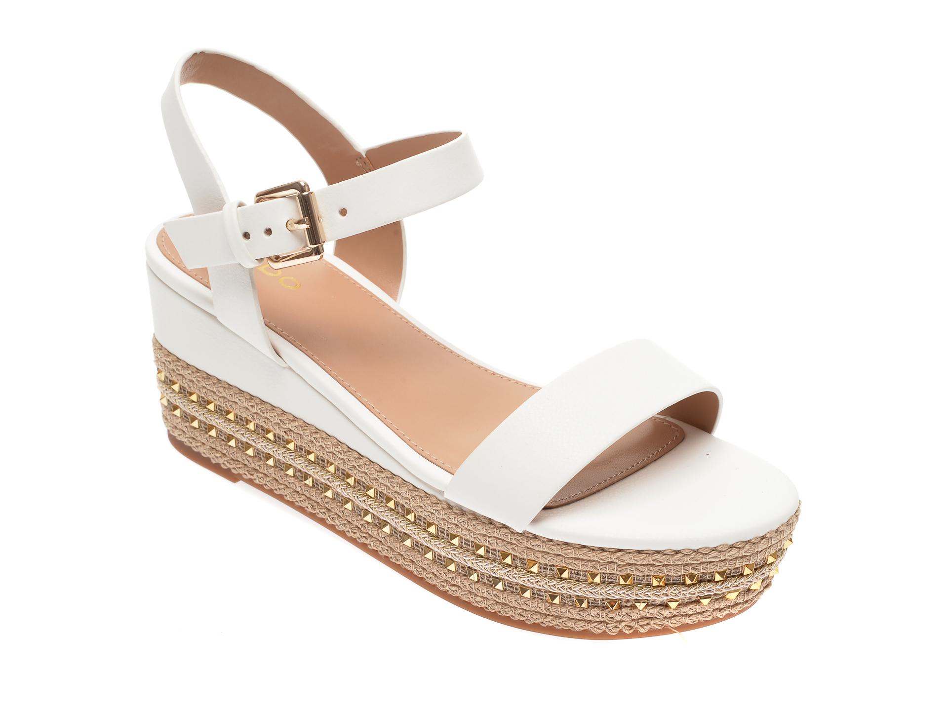 Sandale ALDO albe, Mauma110, din piele ecologica