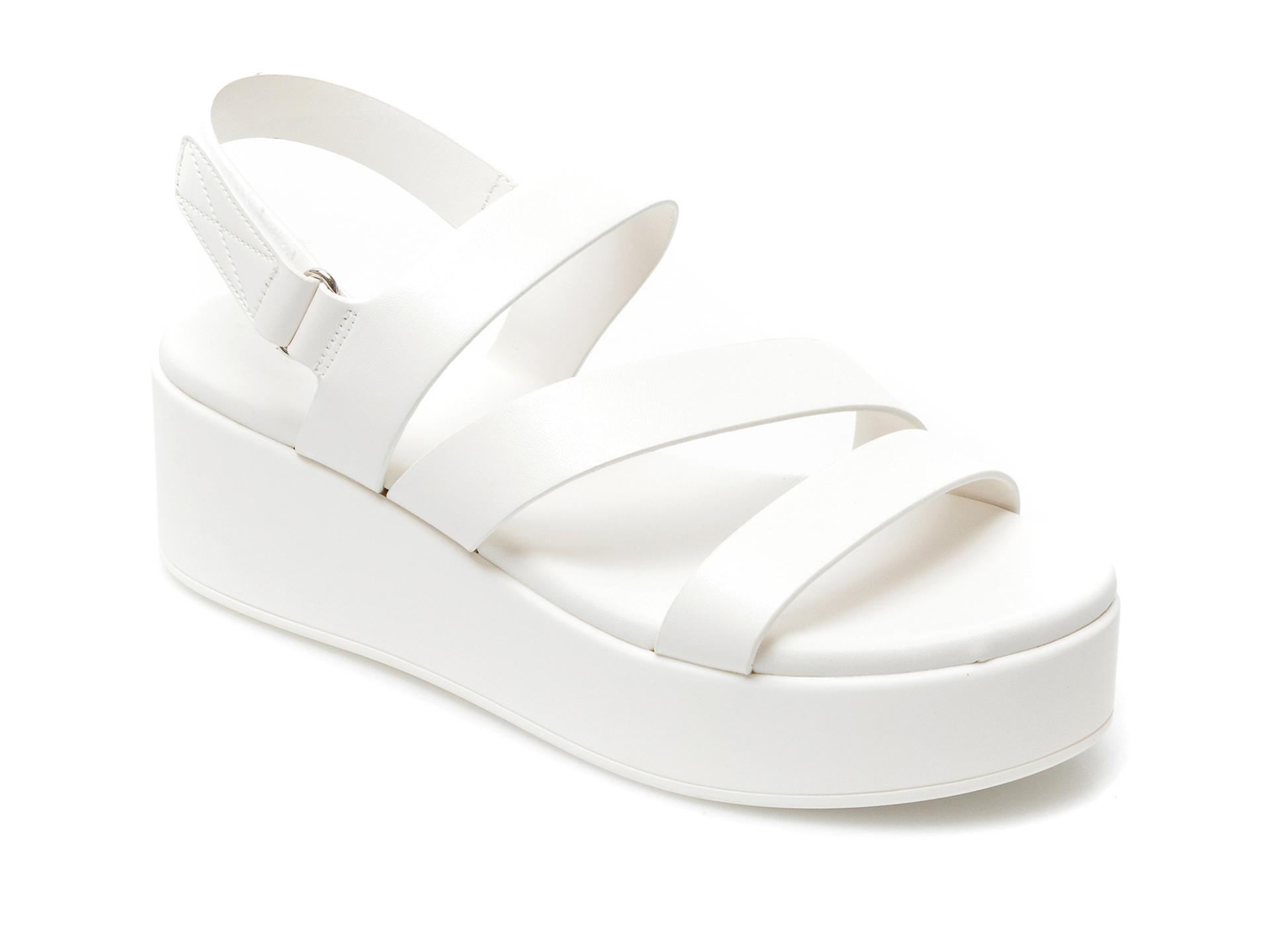 Sandale ALDO albe, Perwell100, din piele ecologica imagine otter.ro 2021