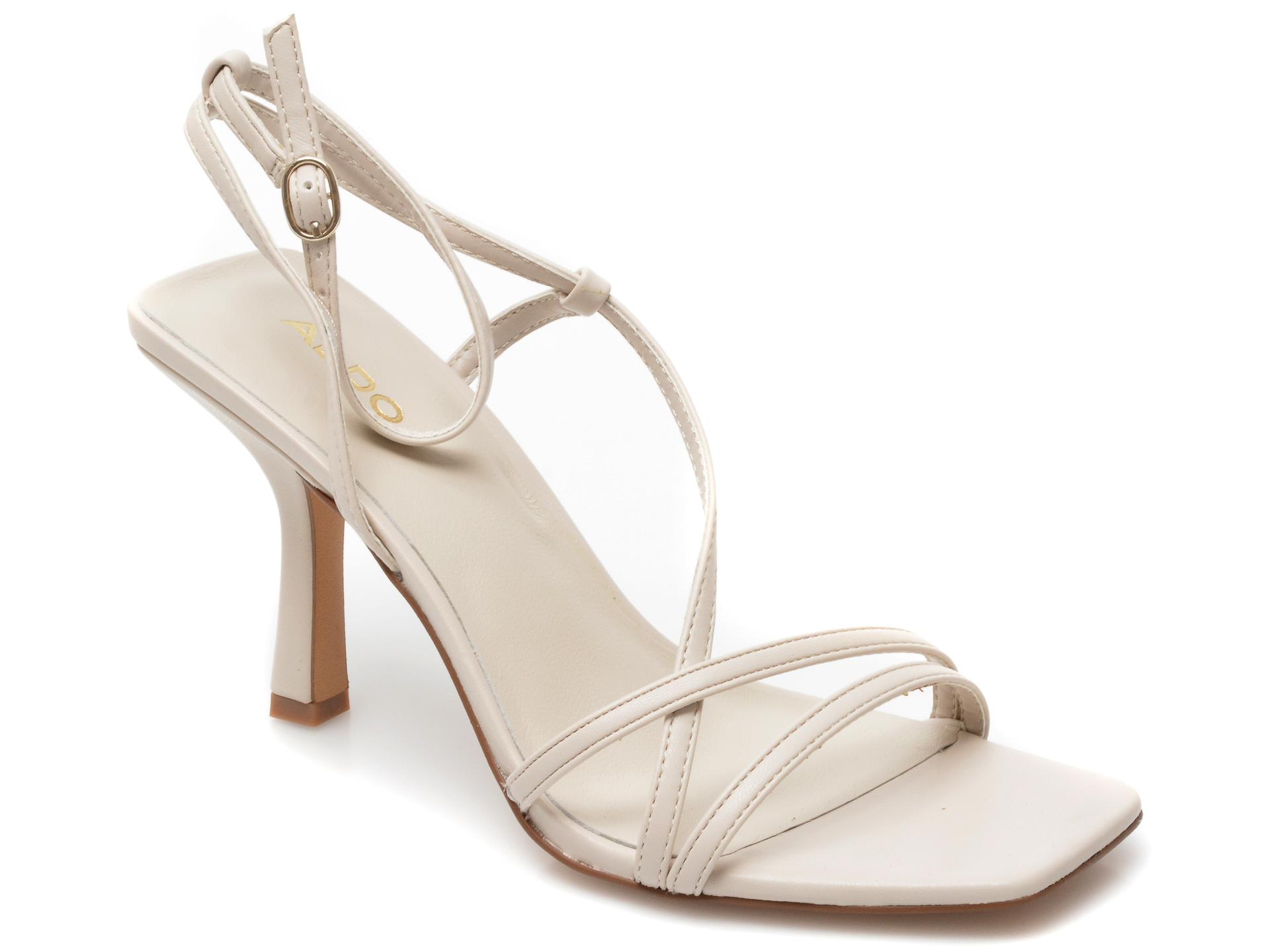 Sandale ALDO albe, Rendalith100, din piele ecologica imagine otter.ro 2021