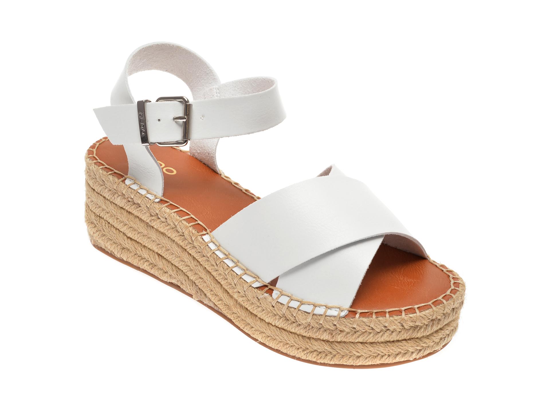 Sandale ALDO albe, Tineviel100, din piele ecologica
